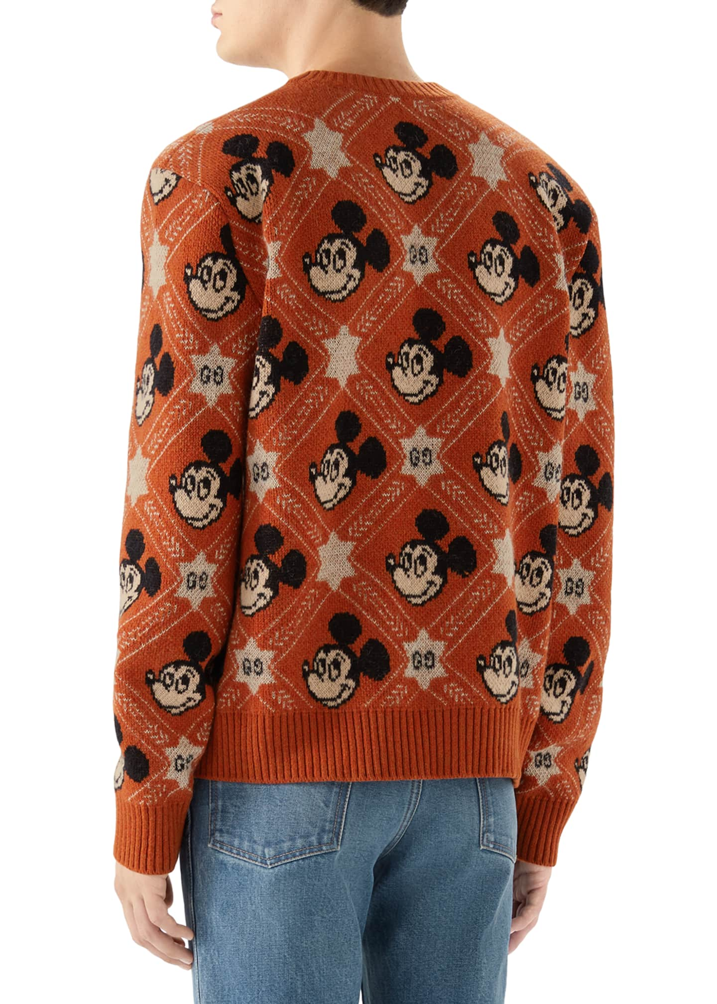 Image 3 of 4: Men's x Disney Mickey Mouse Jacquard Sweater