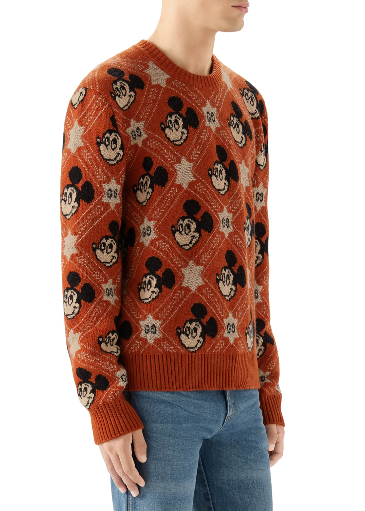 Image 4 of 4: Men's x Disney Mickey Mouse Jacquard Sweater