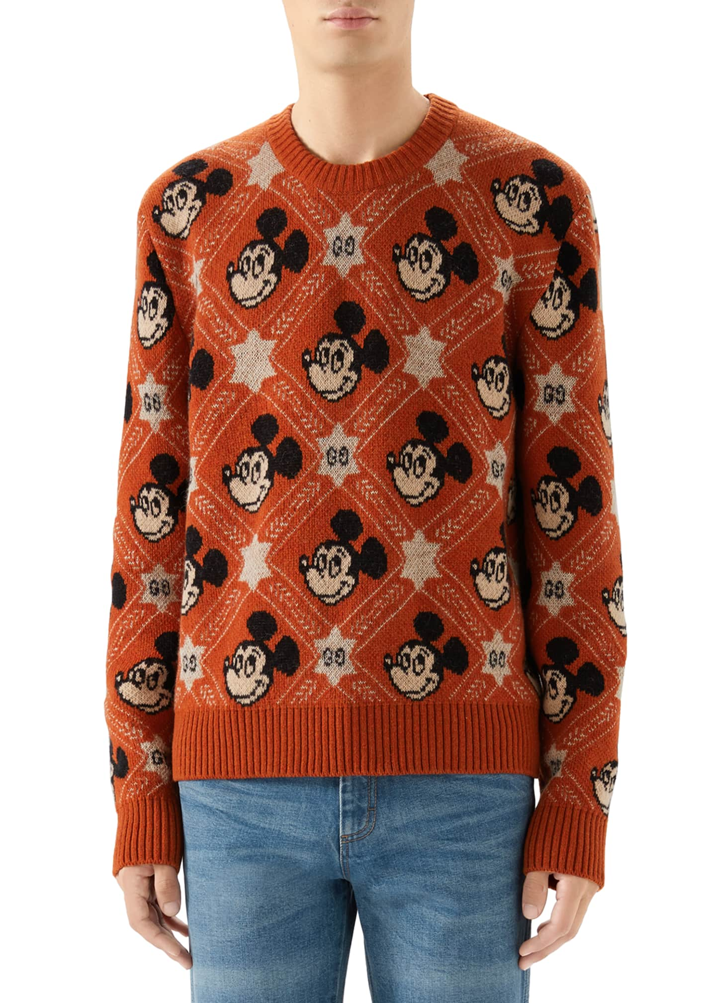 Image 1 of 4: Men's x Disney Mickey Mouse Jacquard Sweater