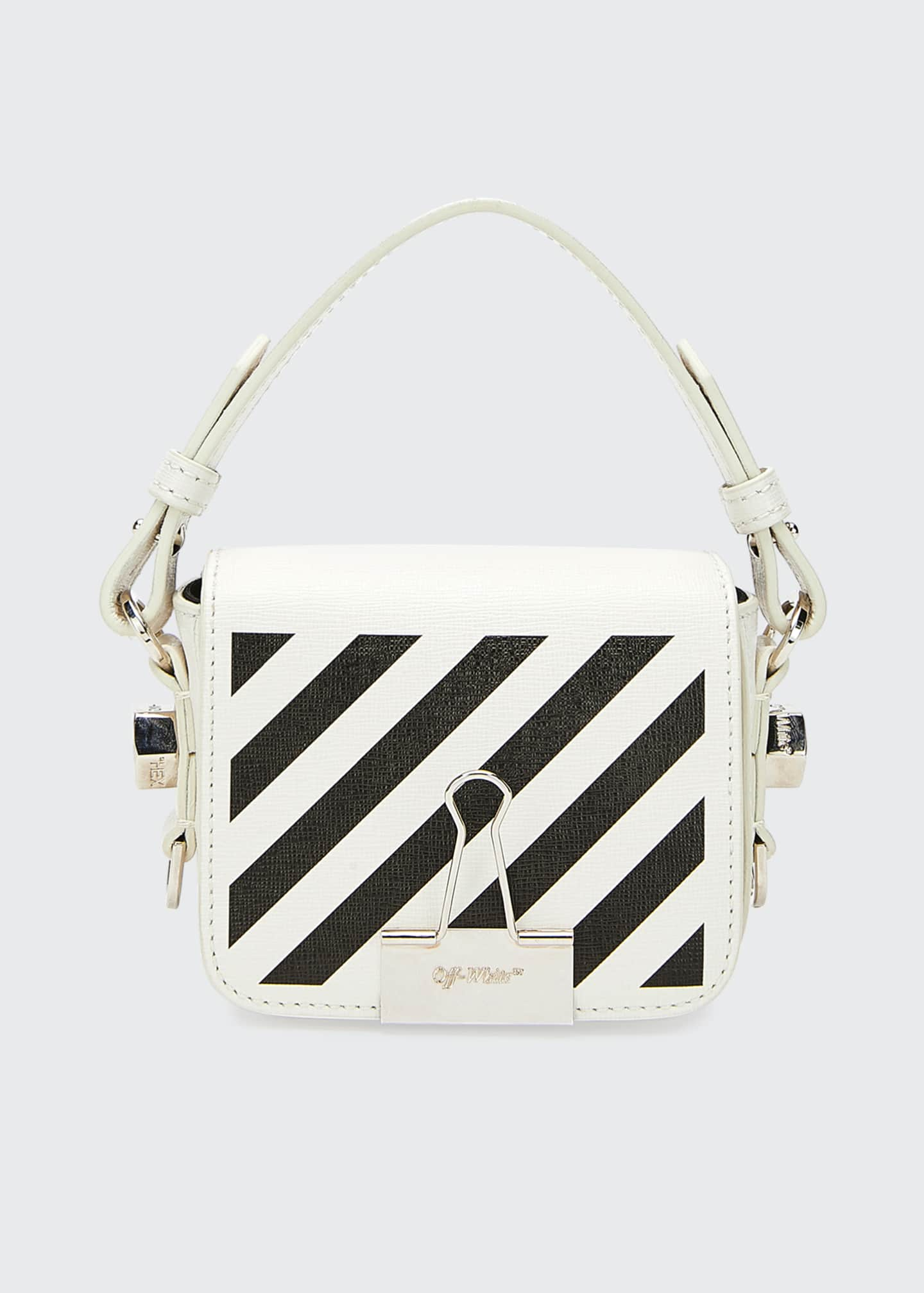 Off-White Leather Diagonal Flap Bag