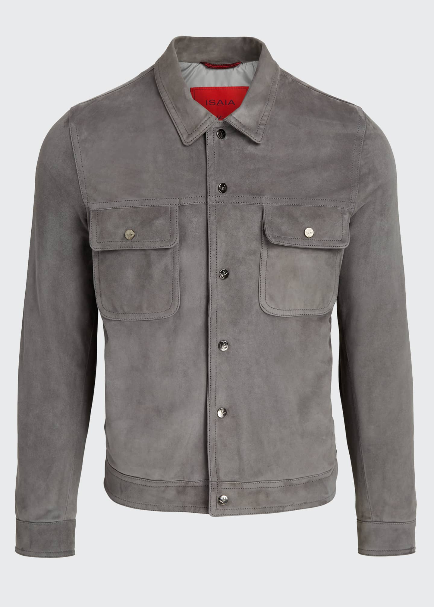 Image 5 of 5: Men's Lamb Suede Trucker Jacket