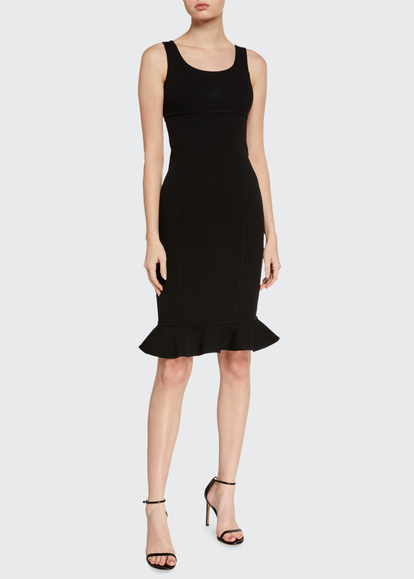 Image 1 of 2: Double-Ruffle Sheath Dress