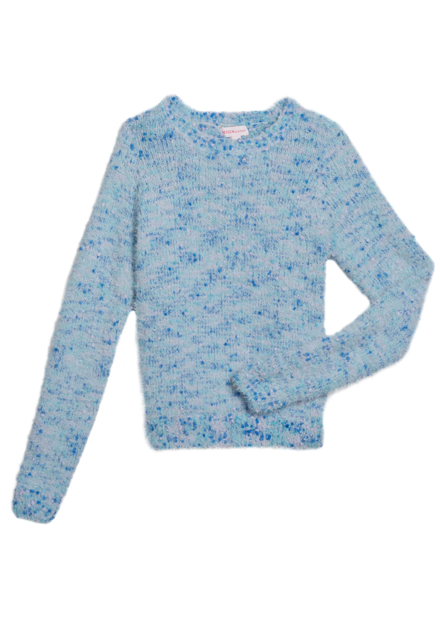 Image 1 of 1: Girl's Multicolored Knit Sweater, Size S-XL