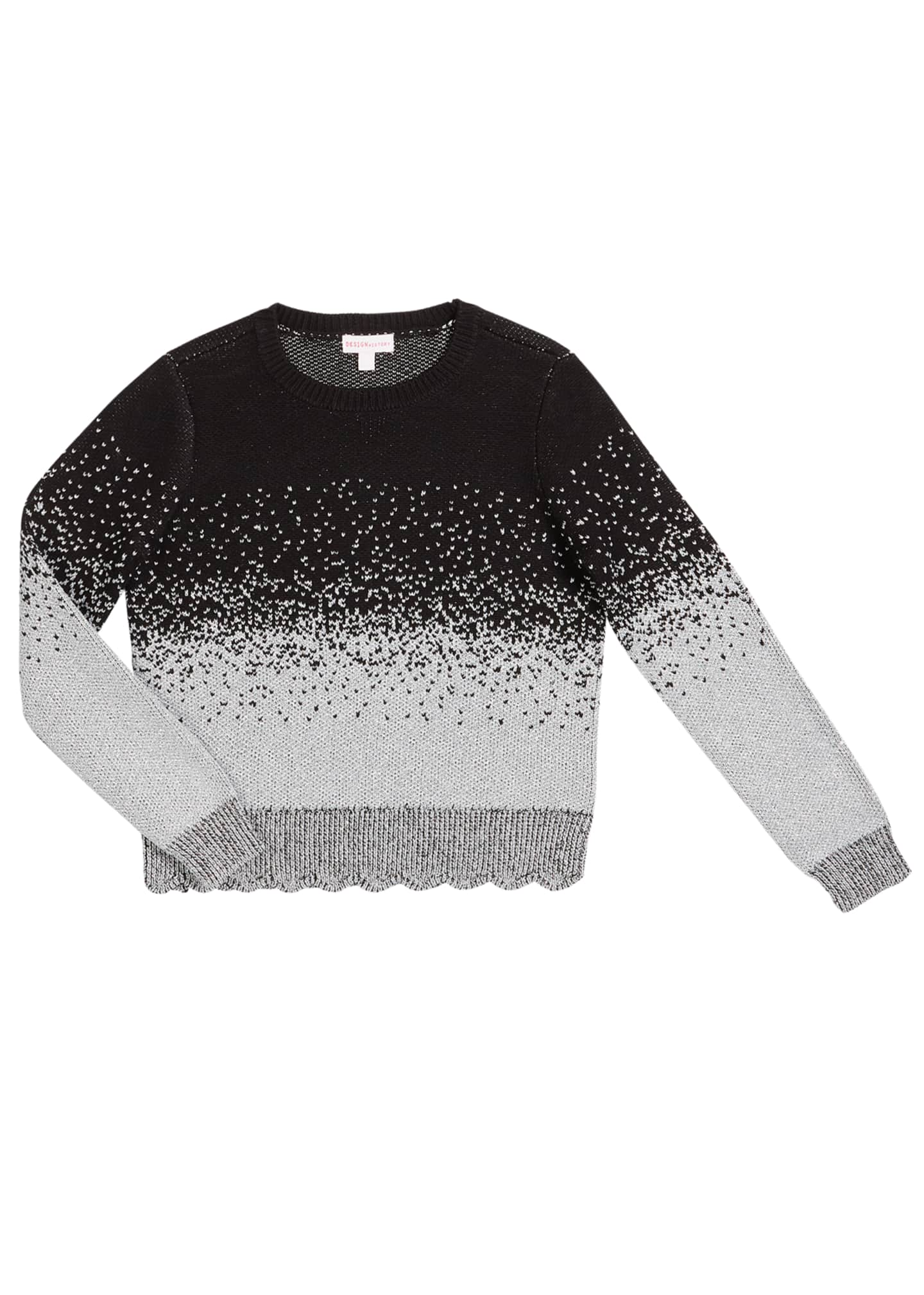 Design History Girls Girl's Ombre Metallic Speckled Sweater,
