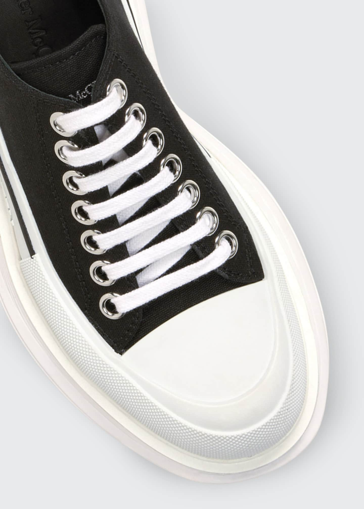 Image 3 of 3: Canvas Low-Top Sneakers