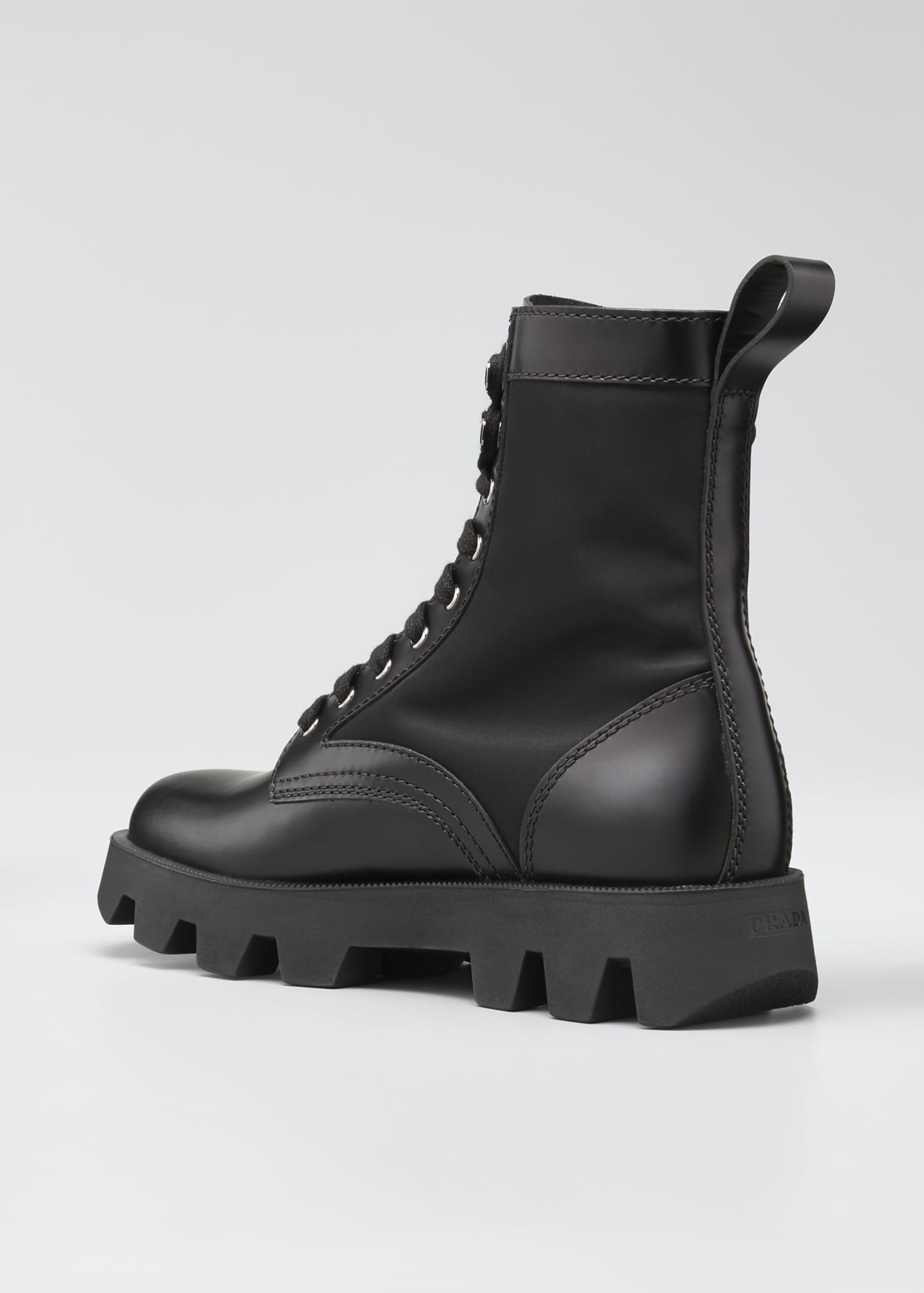 Image 4 of 5: Men's Nylon-Inset Leather Boots