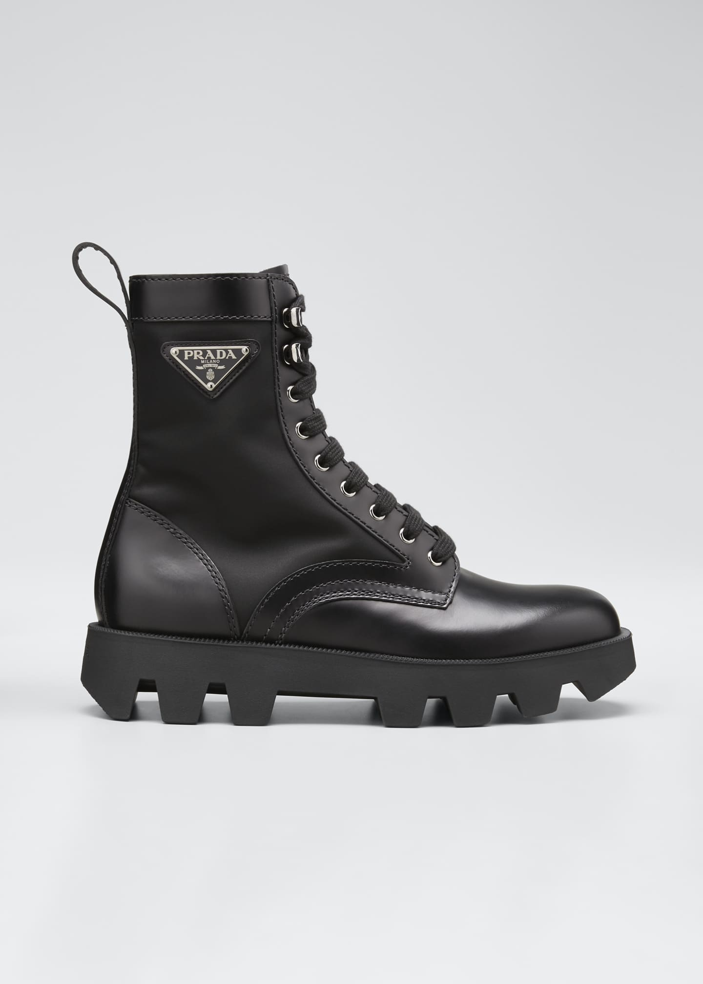 Image 1 of 5: Men's Nylon-Inset Leather Boots