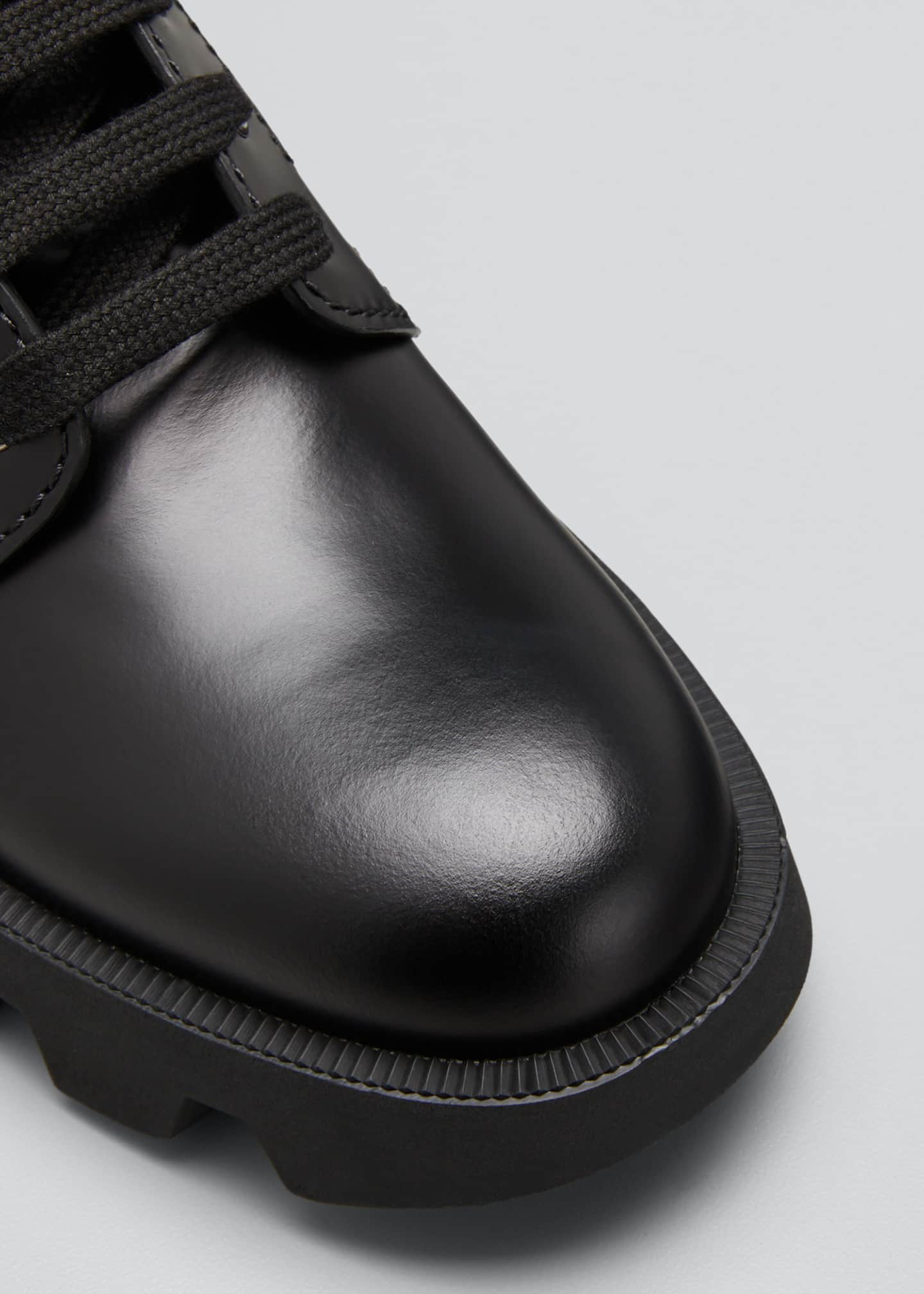 Image 5 of 5: Men's Nylon-Inset Leather Boots