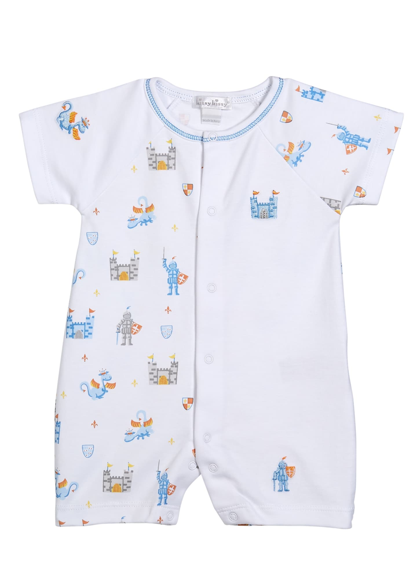 Kissy Kissy Dragon Castle Printed Shortall, Size 3-24