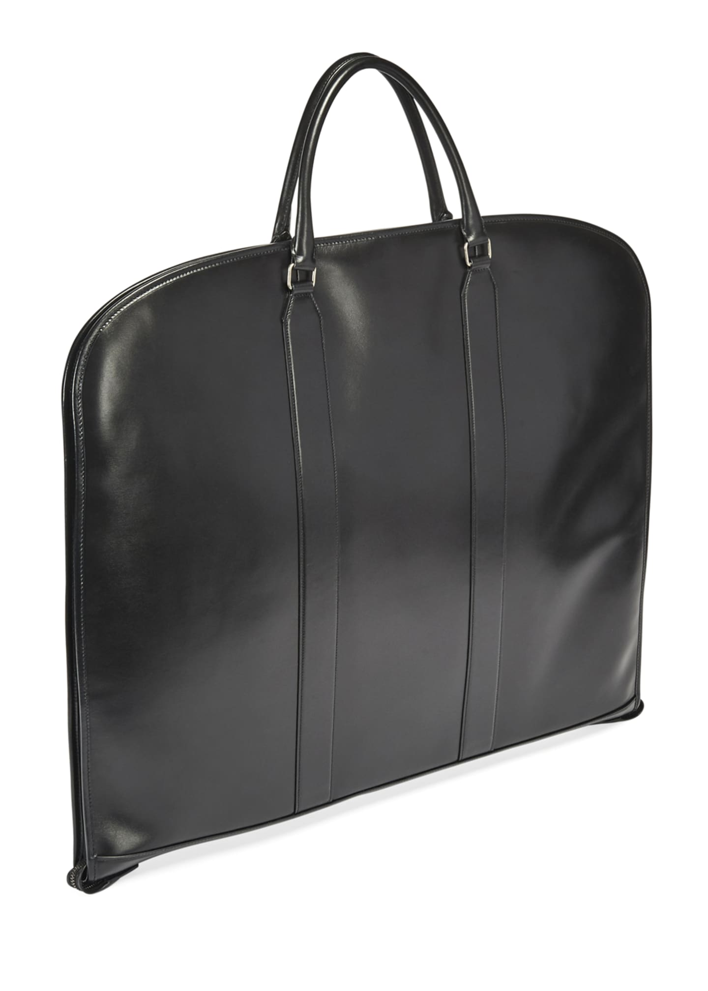 Image 2 of 3: Men's Leather Suit Garment Bag Luggage