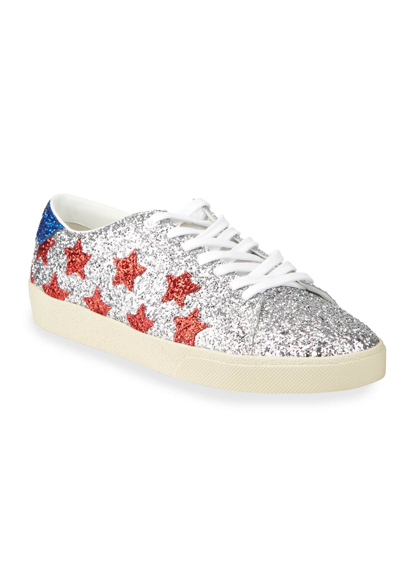Image 2 of 4: Men's Court Allover Glitter Low-Top Sneakers