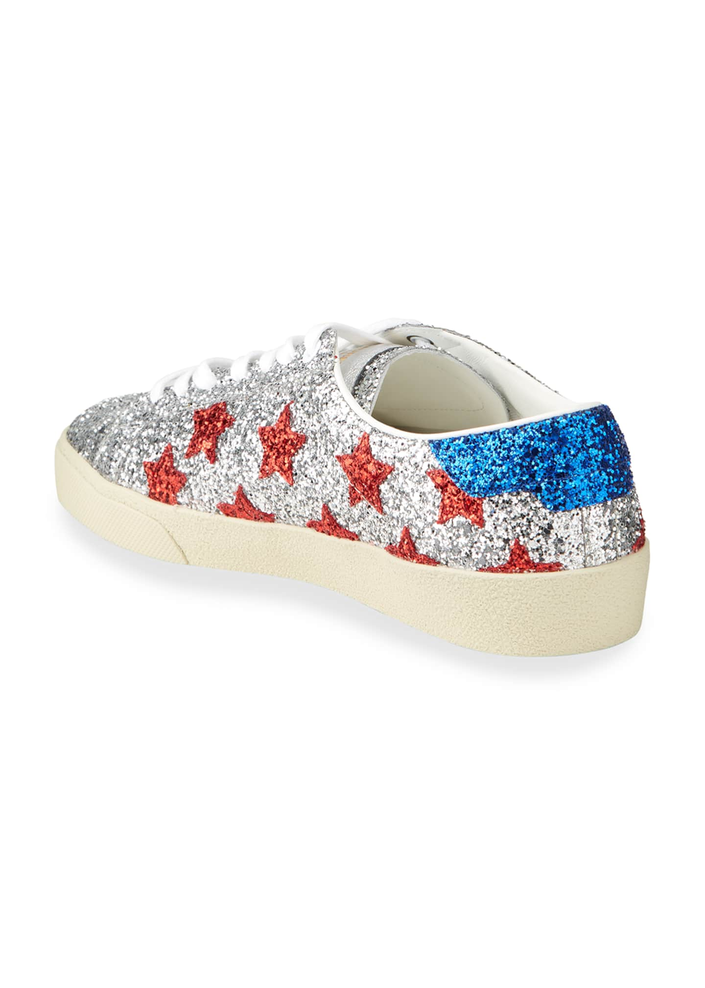 Image 3 of 4: Men's Court Allover Glitter Low-Top Sneakers