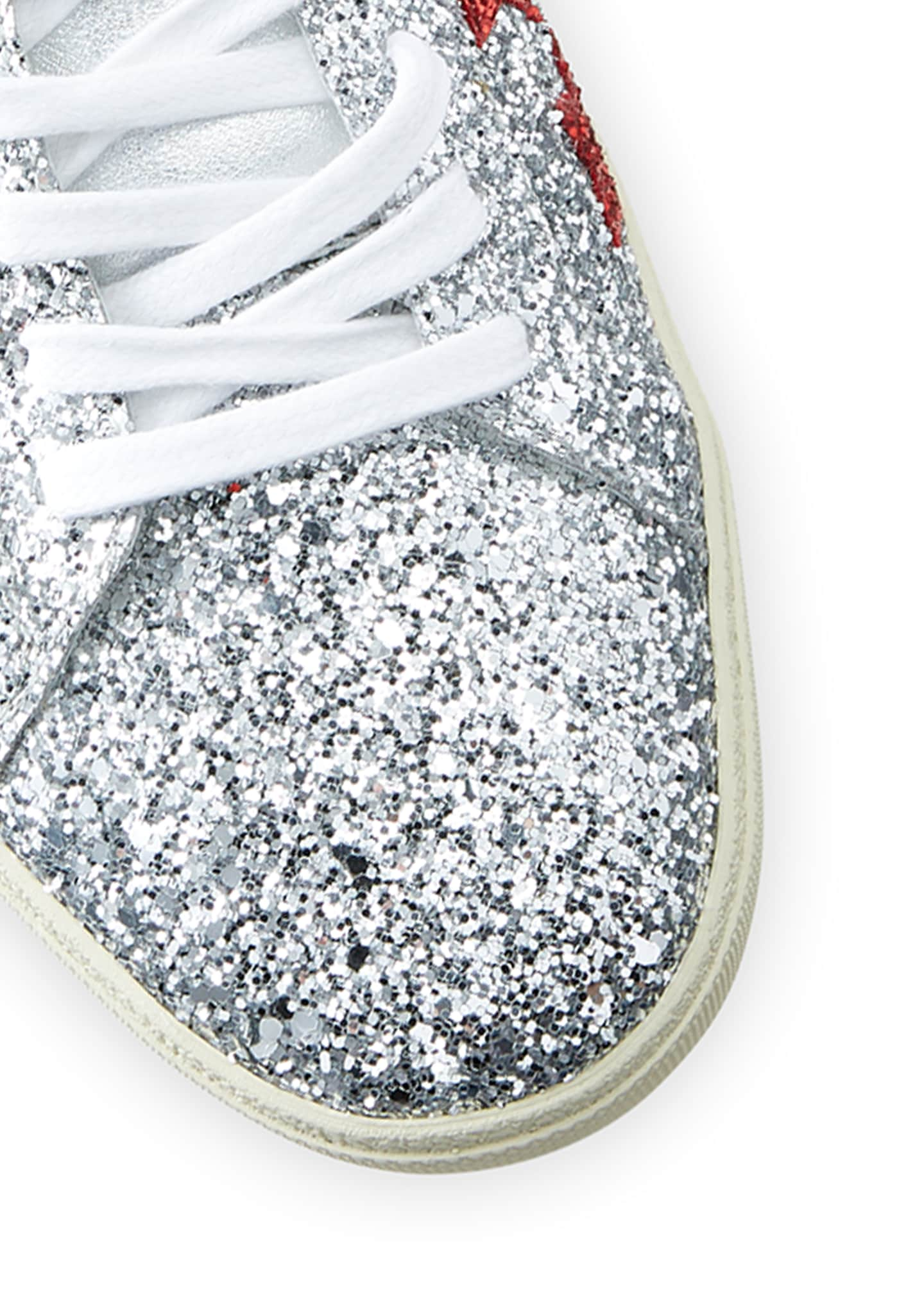 Image 4 of 4: Men's Court Allover Glitter Low-Top Sneakers