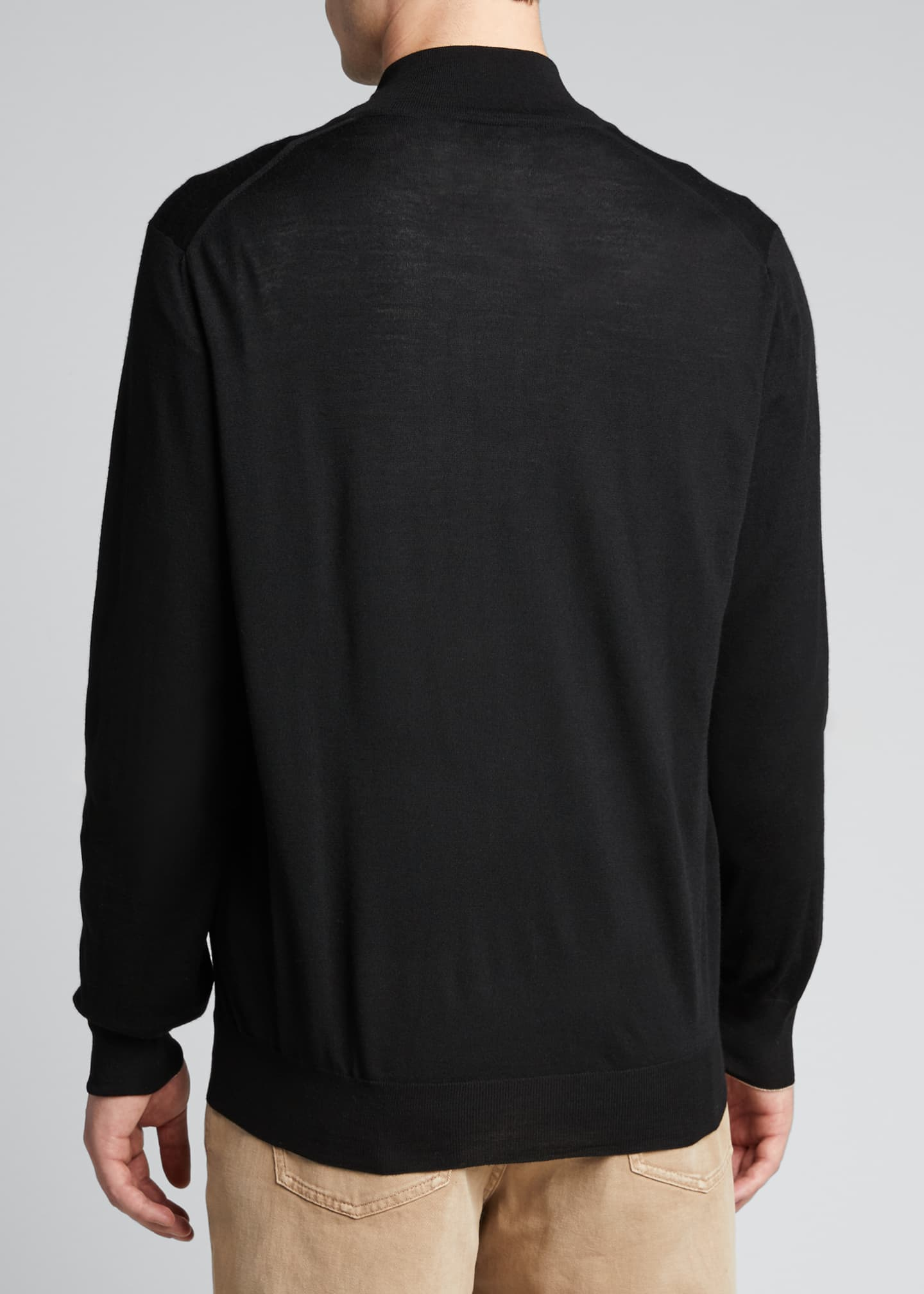 Image 2 of 5: Men's Zip-Front Cashmere-Blend Cardigan