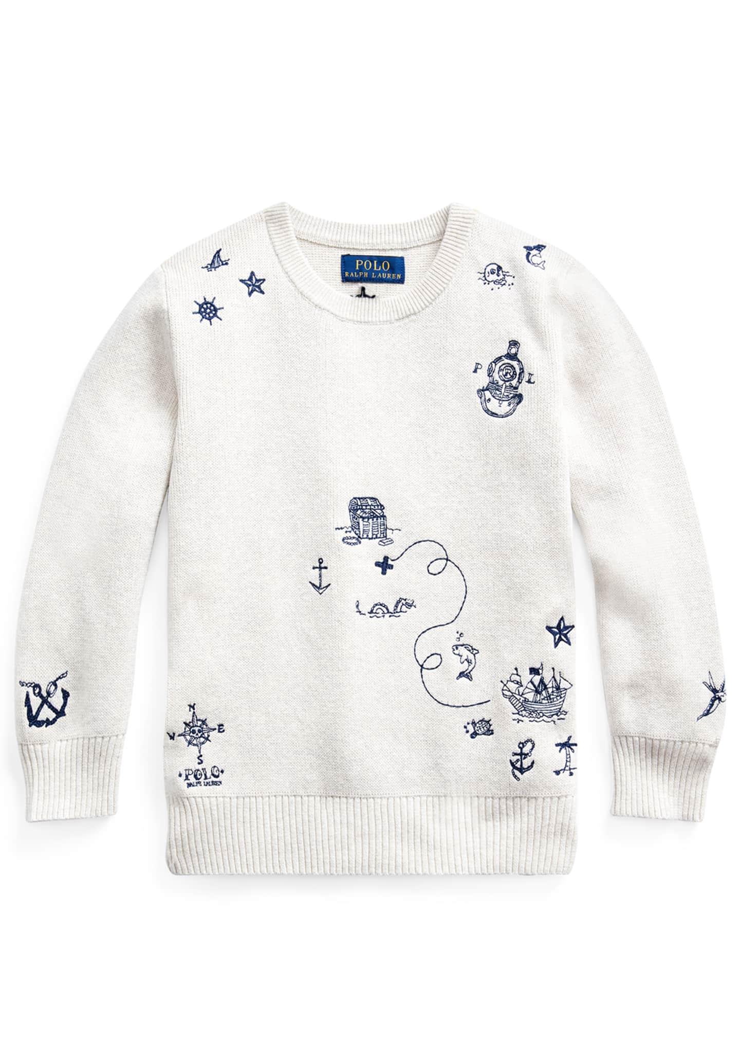 Ralph Lauren Childrenswear Boy's Nautical Embroidered Sweater,