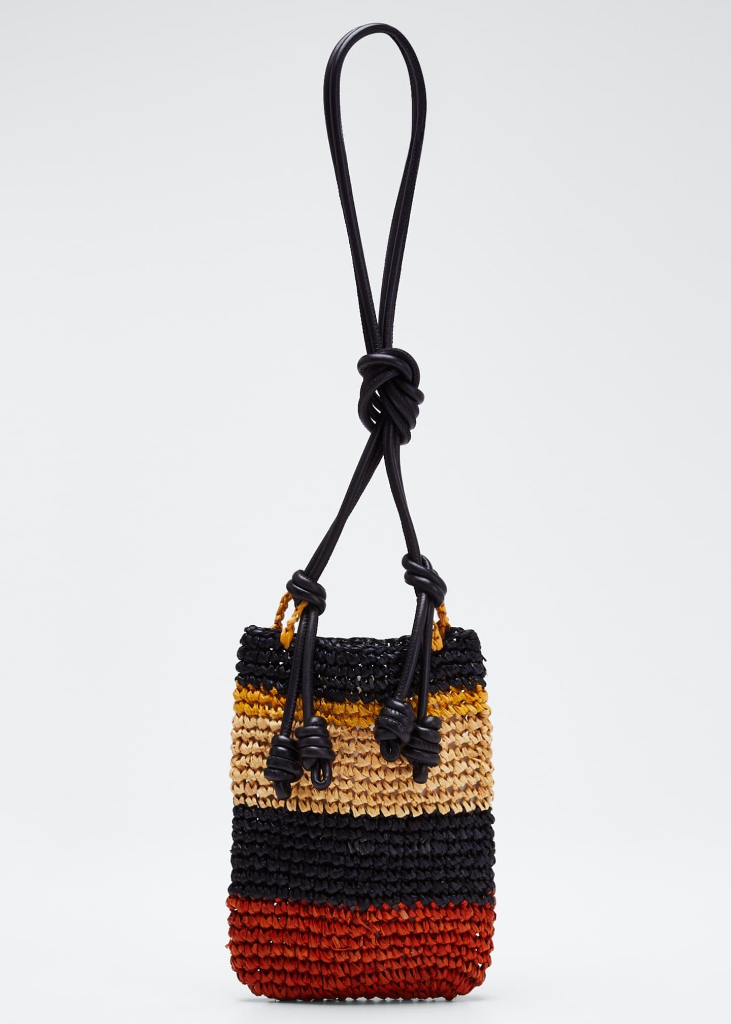 Ulla Johnson Raffia Sefina Phone Holder Bag