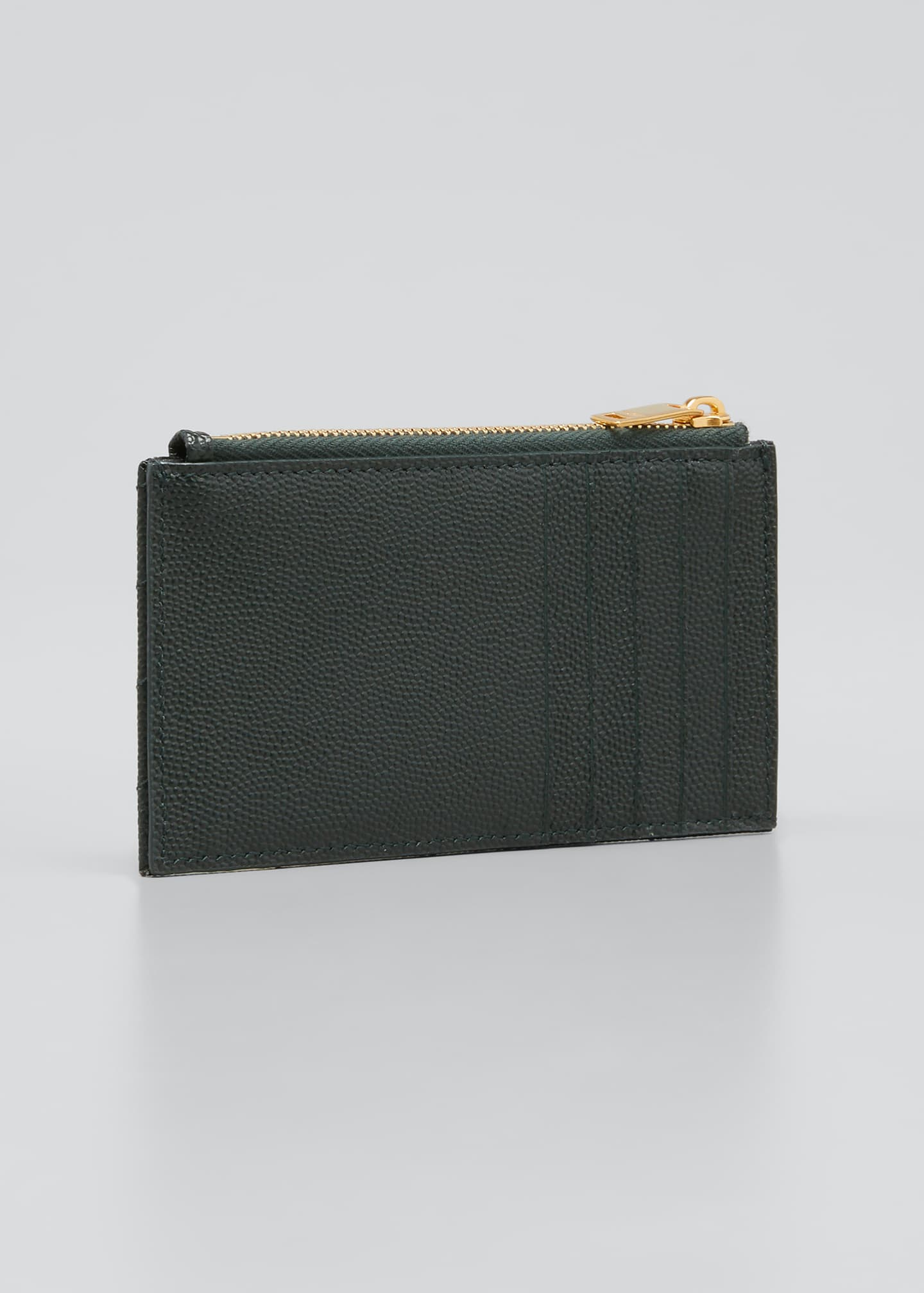 Image 2 of 2: Zip Fragments YSL Monogram Pouch Card Case Wallet