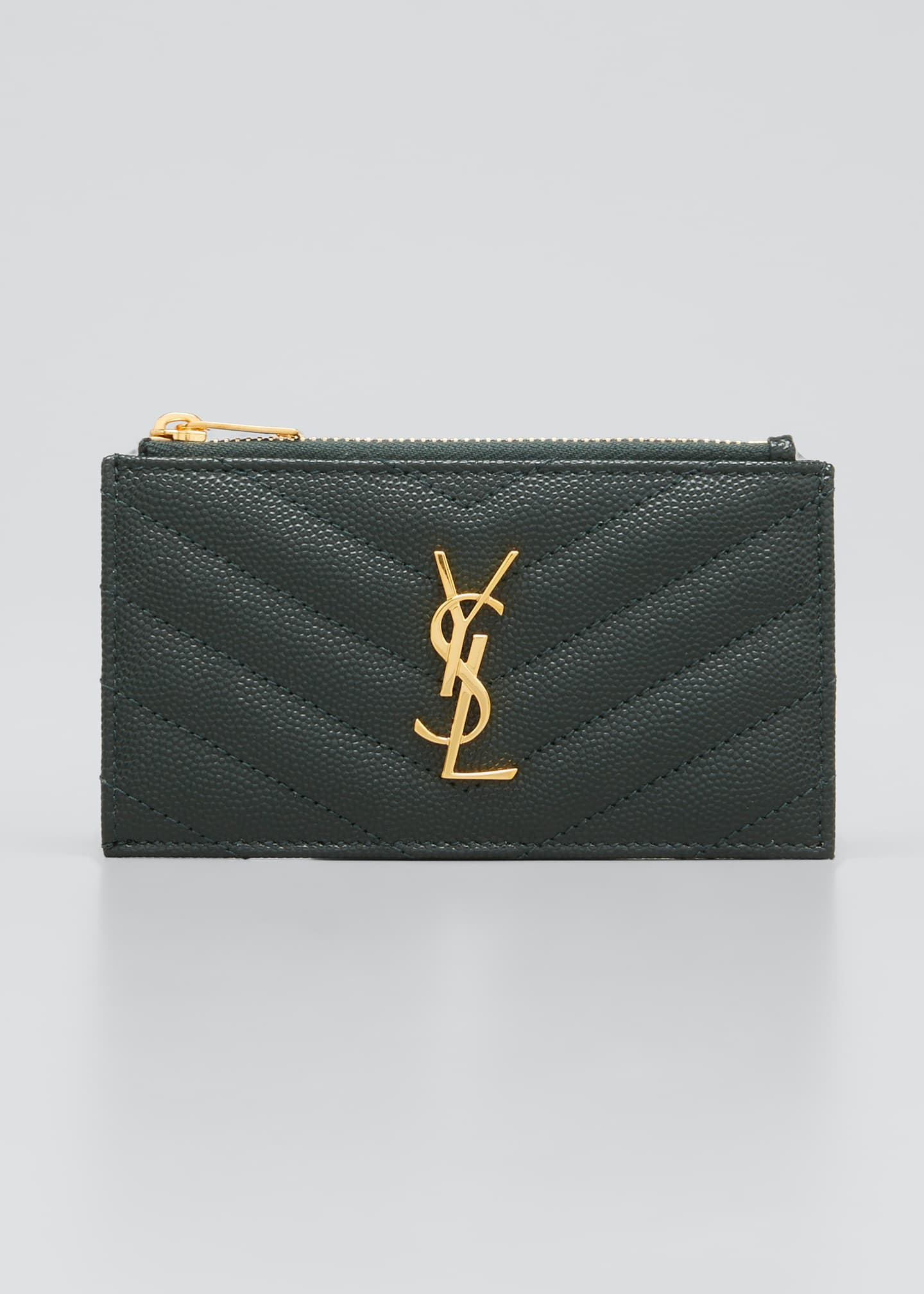 Image 1 of 2: Zip Fragments YSL Monogram Pouch Card Case Wallet