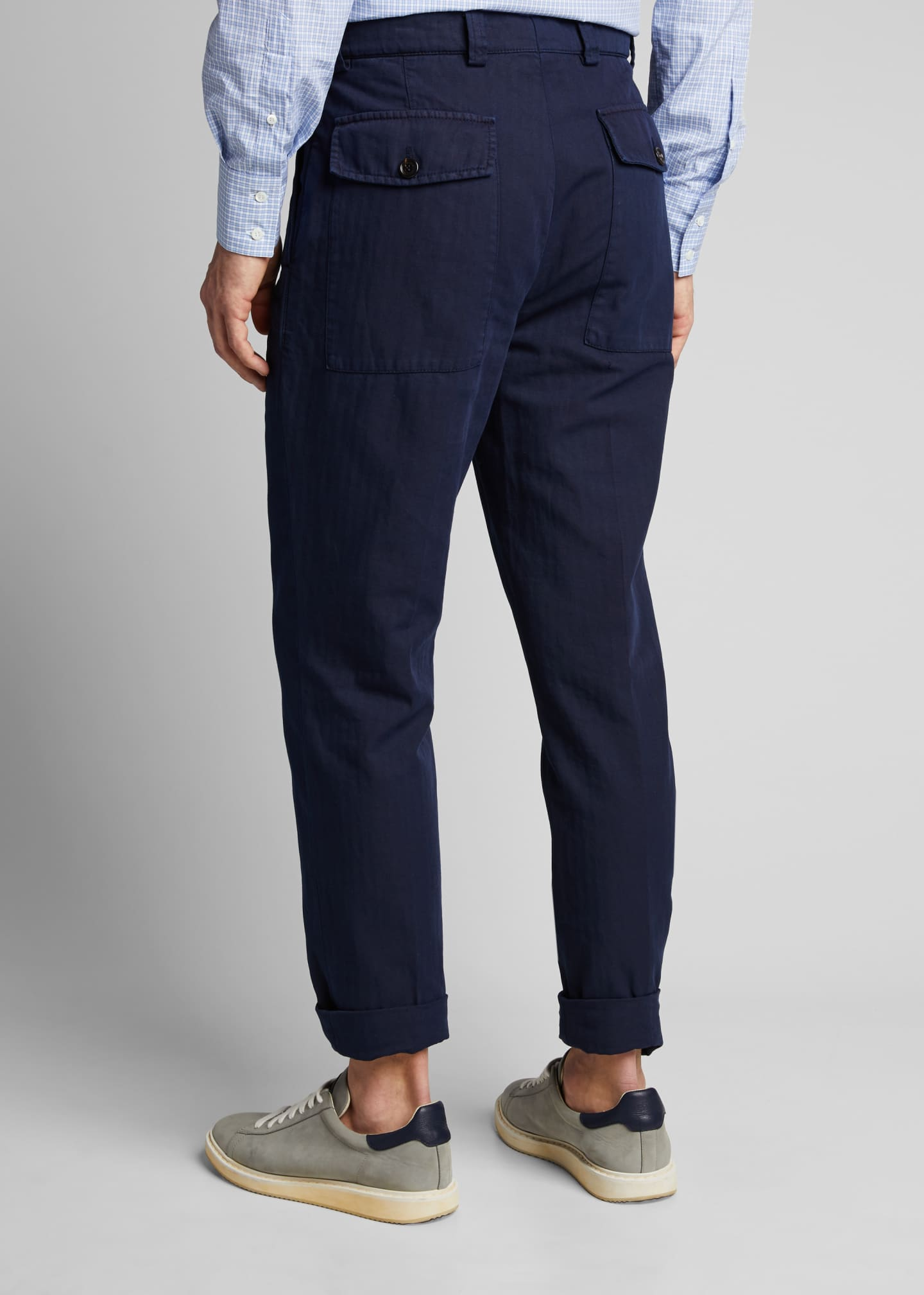Image 2 of 5: Men's Straight-Leg Twill Pants