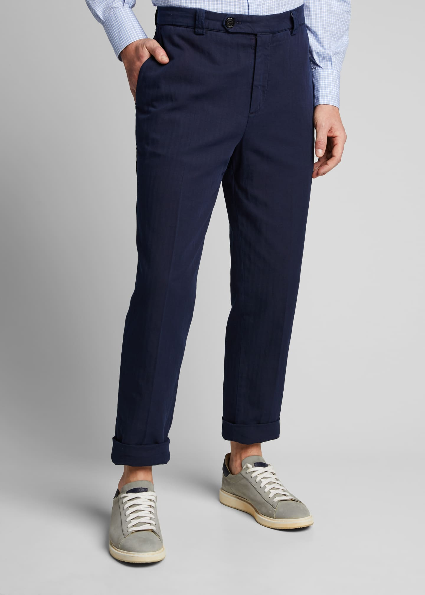 Image 3 of 5: Men's Straight-Leg Twill Pants