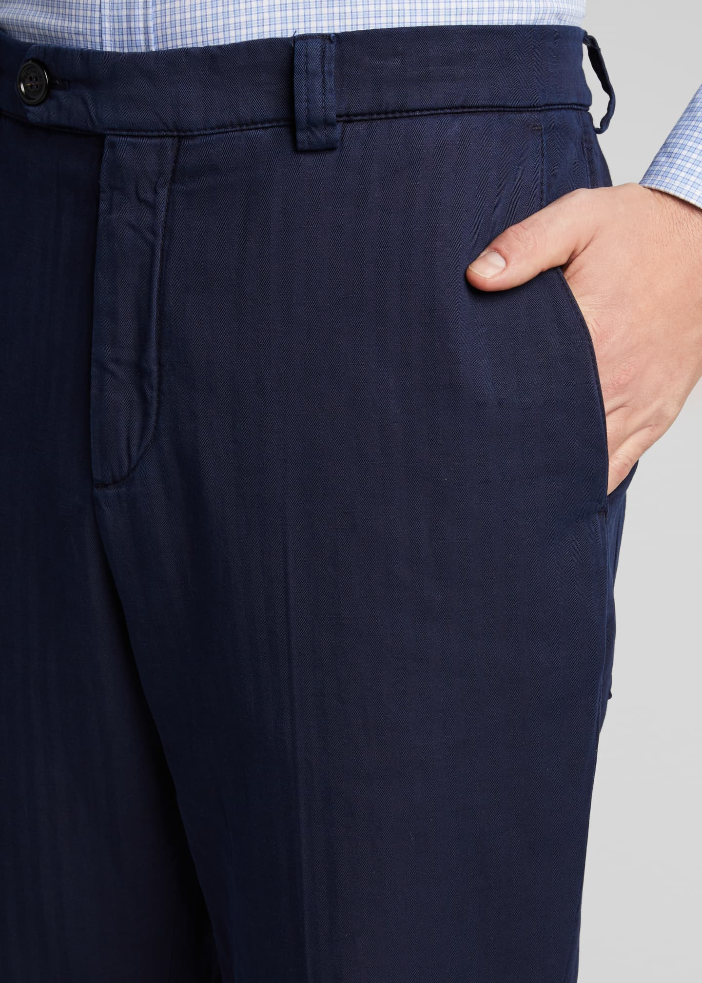 Image 4 of 5: Men's Straight-Leg Twill Pants