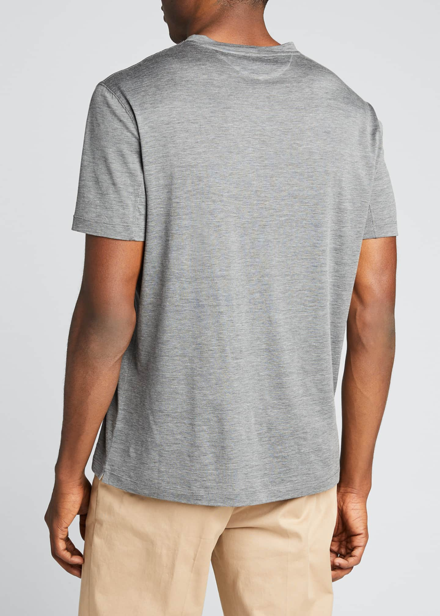 Image 2 of 5: Men's V-Neck Short-Sleeve Sweater T-Shirt