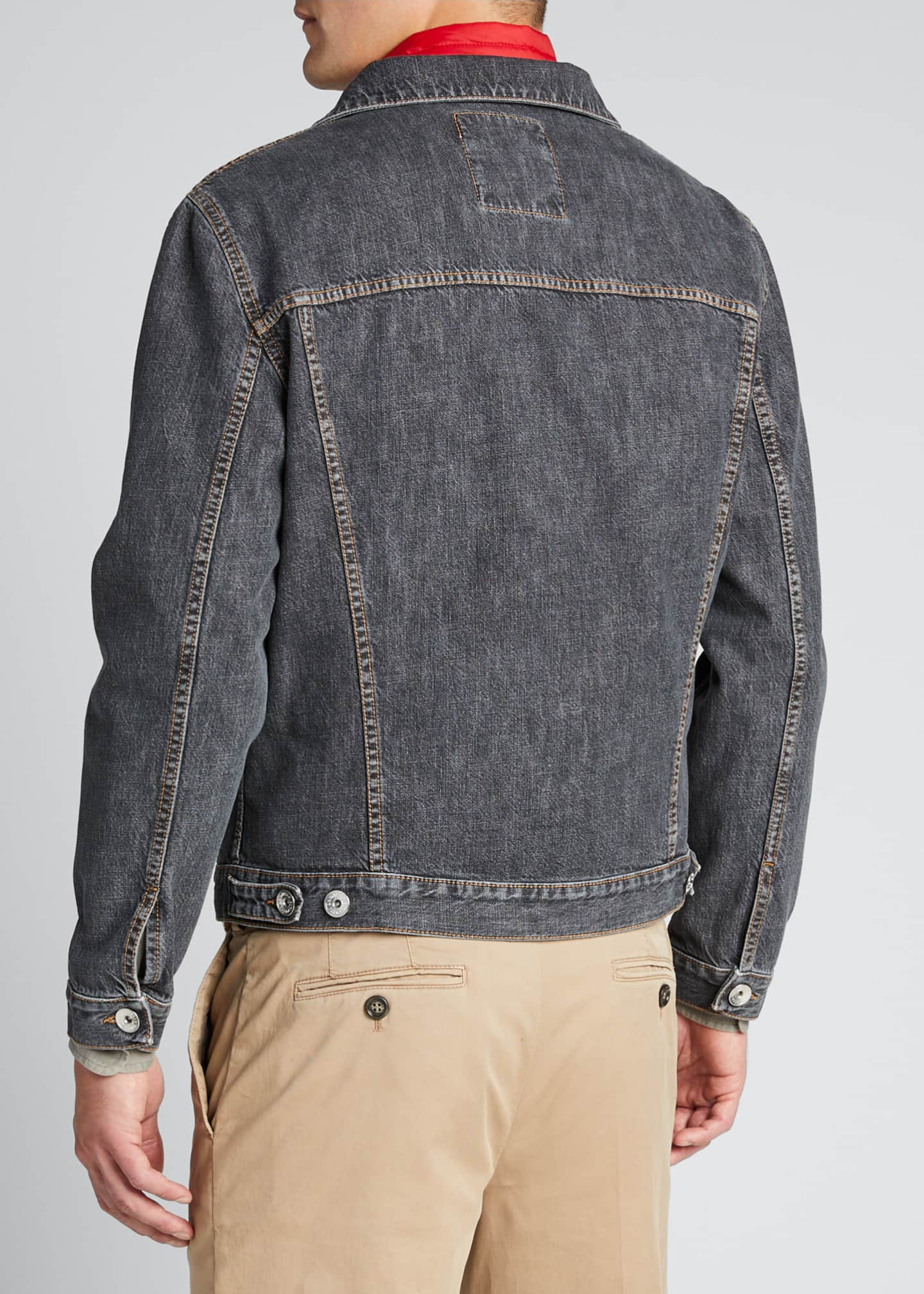 Image 2 of 5: Men's Denim Trucker Jacket