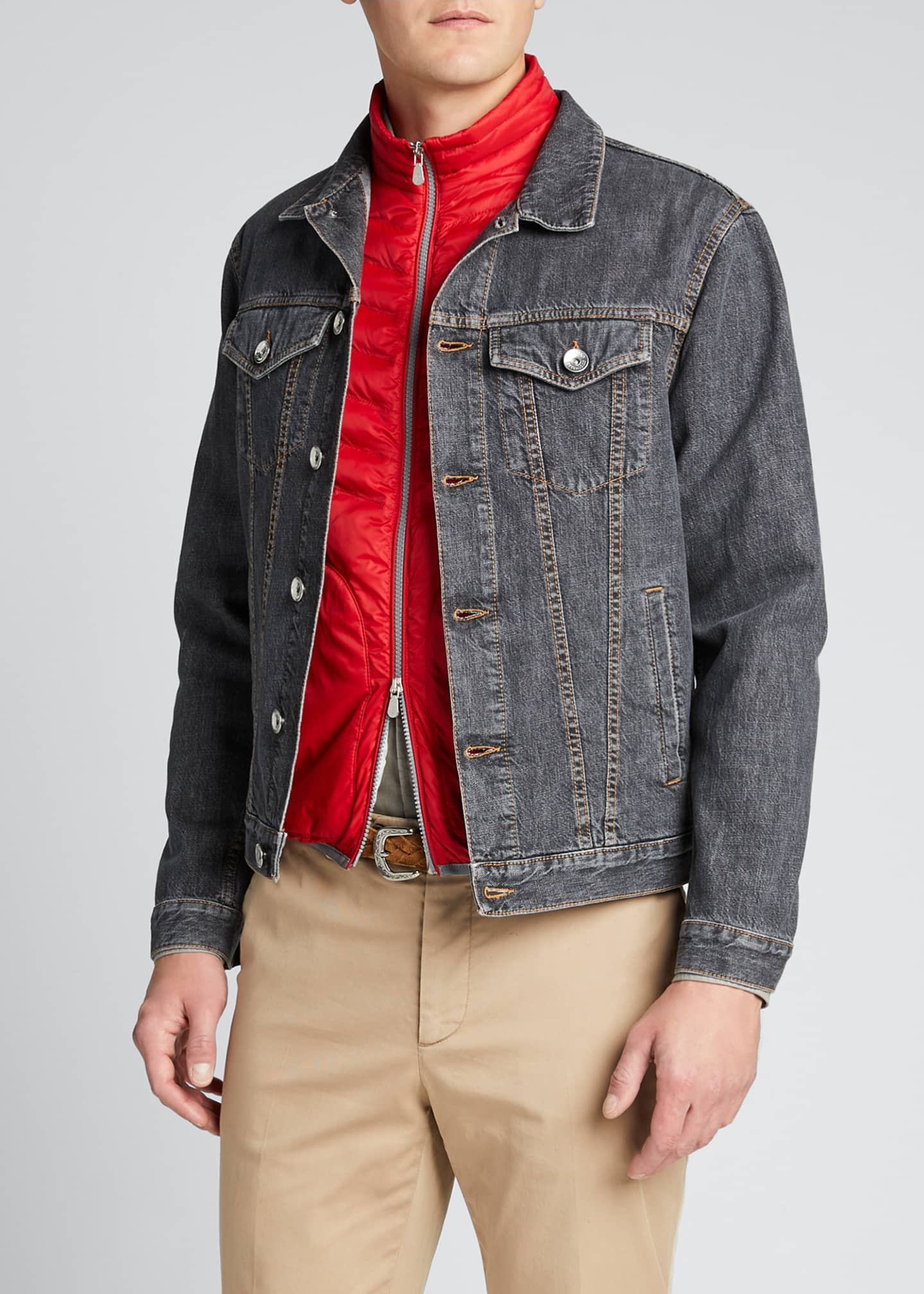 Image 3 of 5: Men's Denim Trucker Jacket