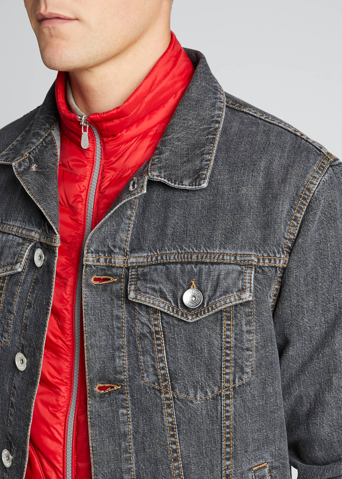 Image 4 of 5: Men's Denim Trucker Jacket