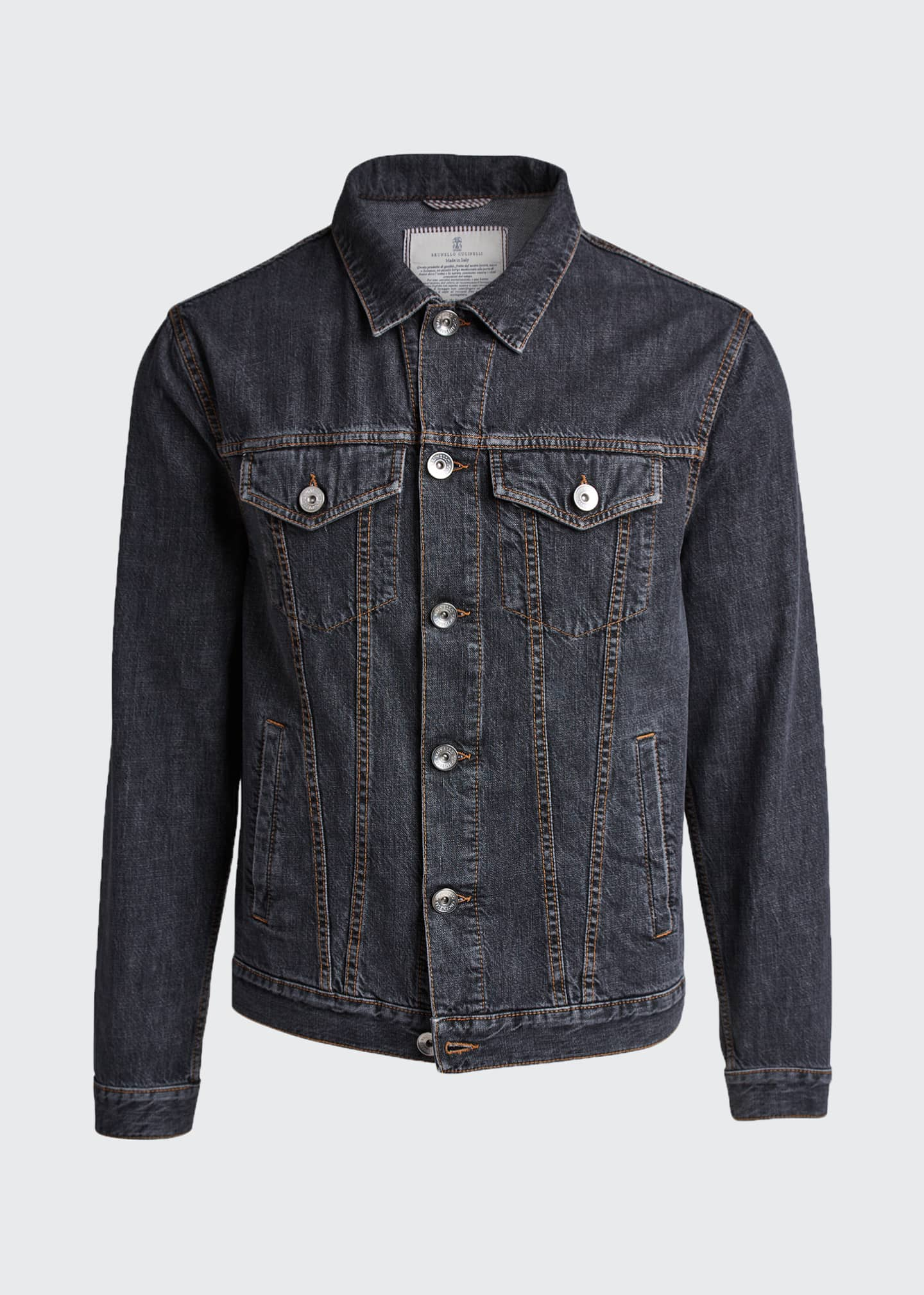Image 5 of 5: Men's Denim Trucker Jacket