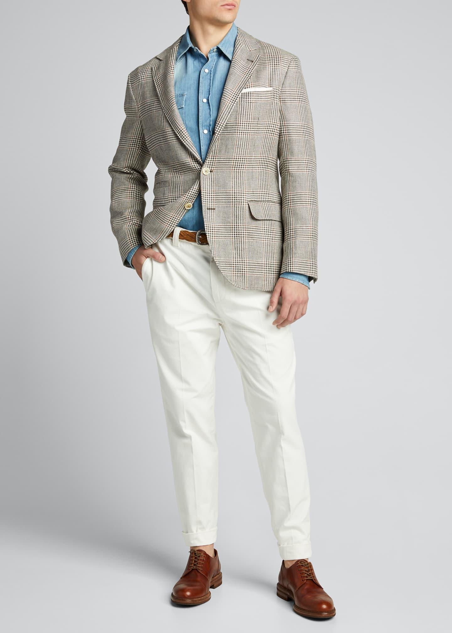 Brunello Cucinelli Men's Leisure-Fit Cotton Pants
