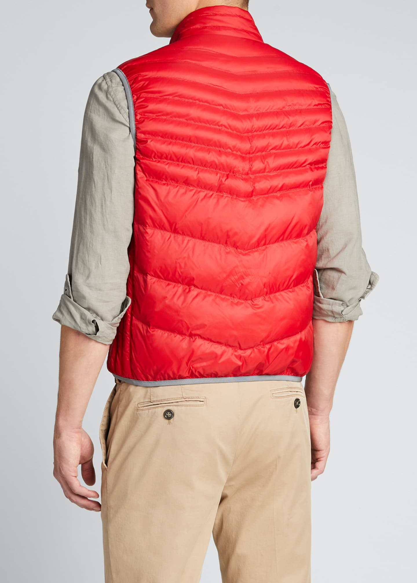 Image 2 of 5: Men's Padded Zip-Front Vest