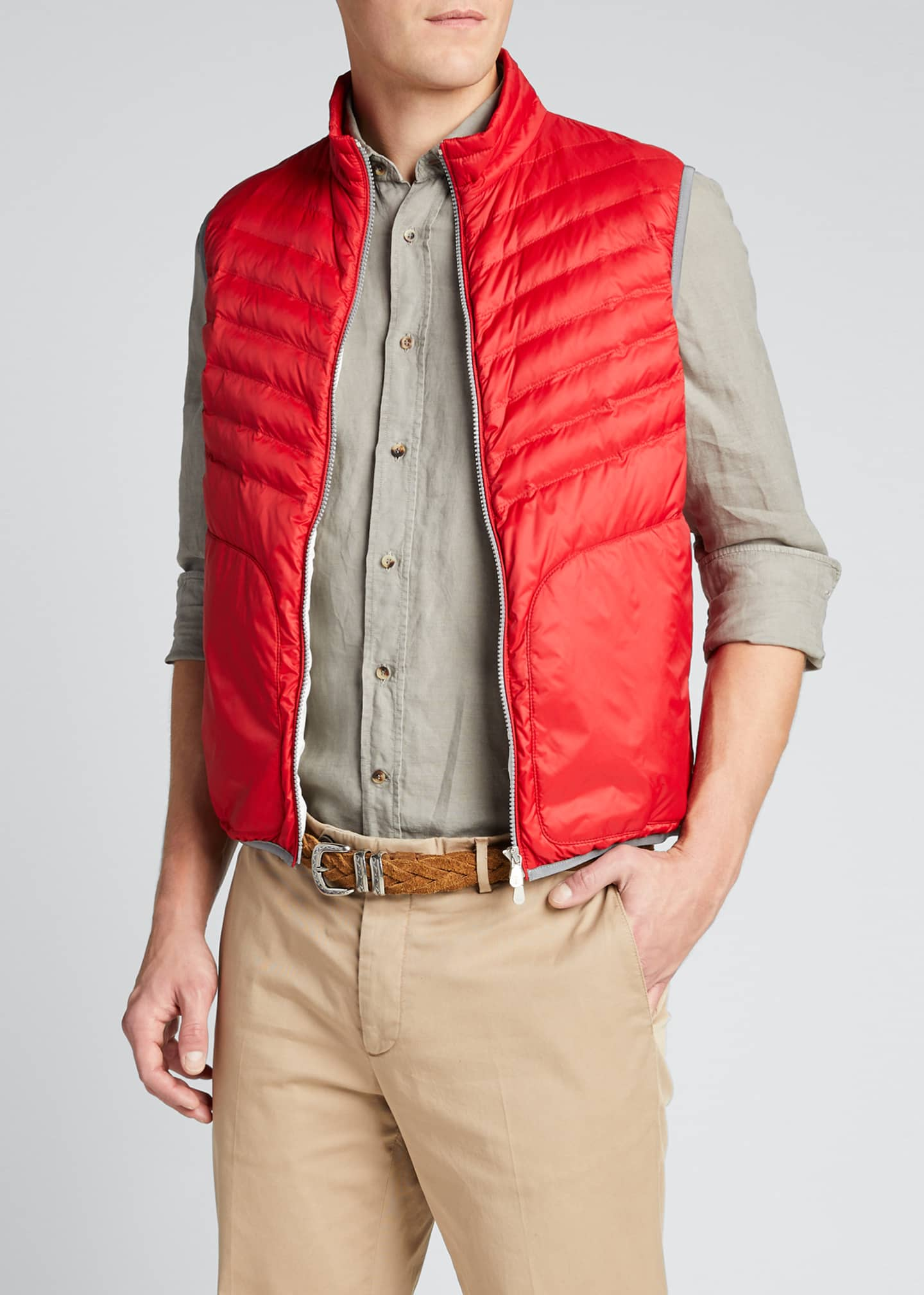 Image 3 of 5: Men's Padded Zip-Front Vest