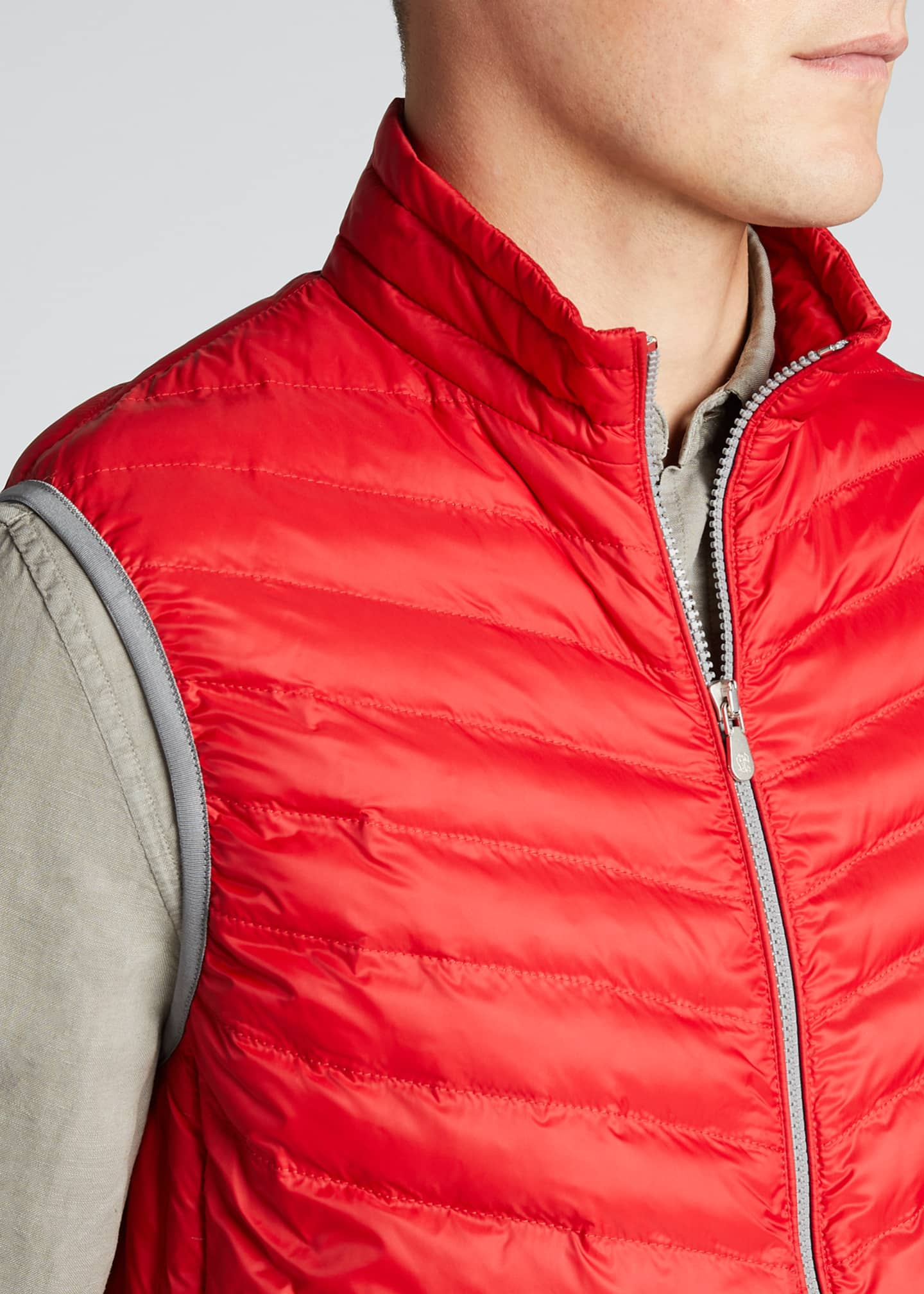 Image 4 of 5: Men's Padded Zip-Front Vest