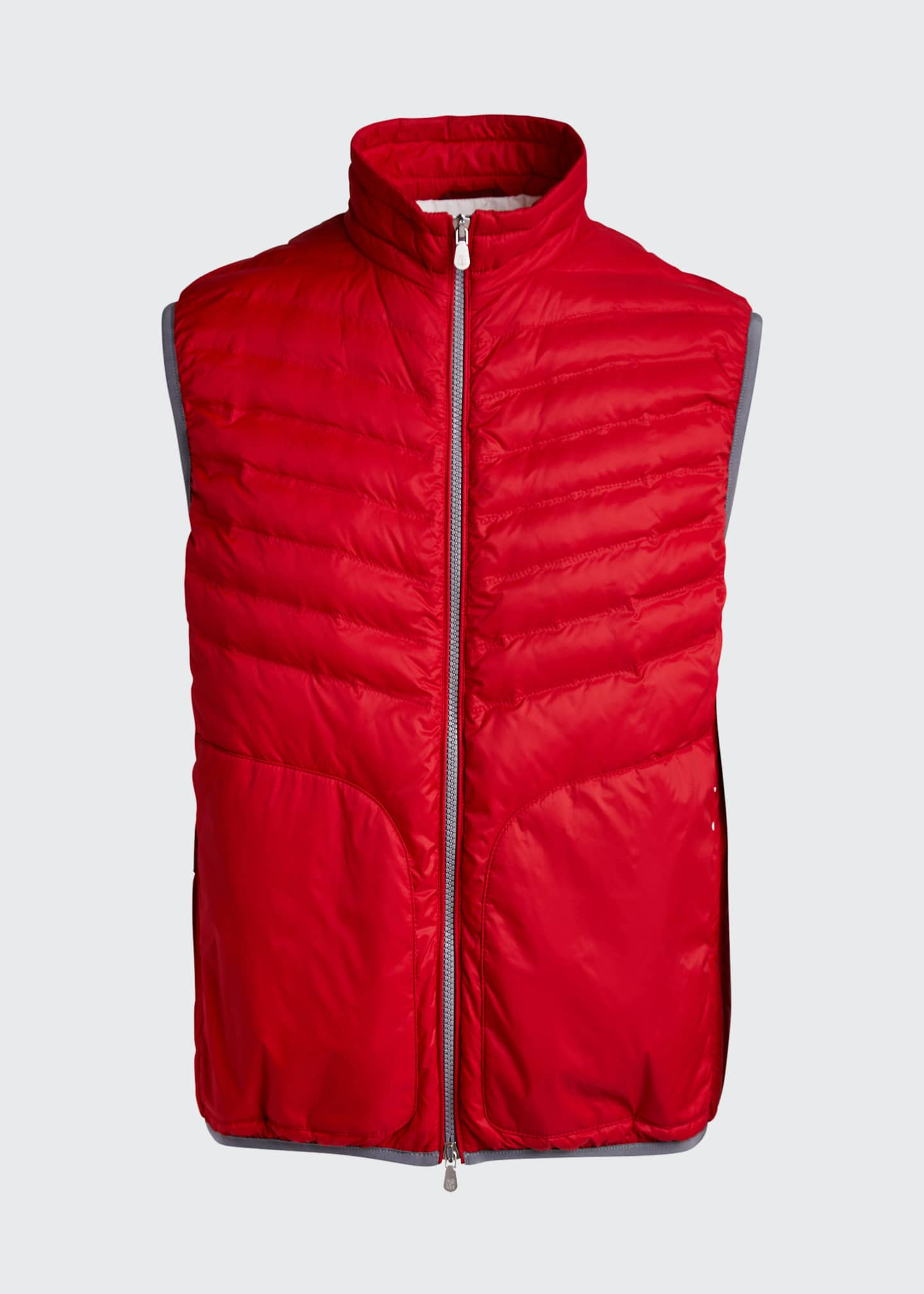 Image 5 of 5: Men's Padded Zip-Front Vest