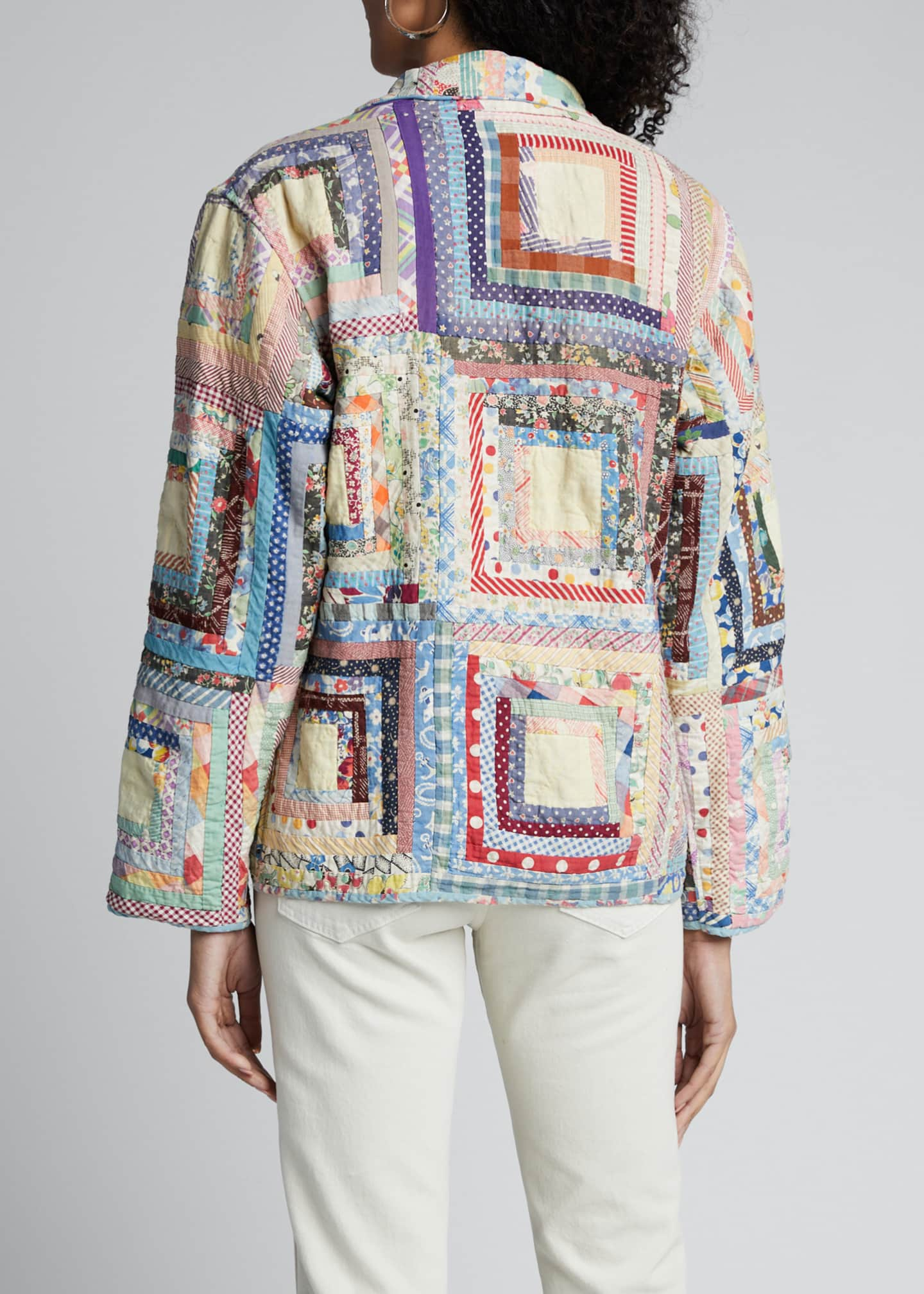 Image 2 of 5: Quilted Patchwork Workwear Jacket