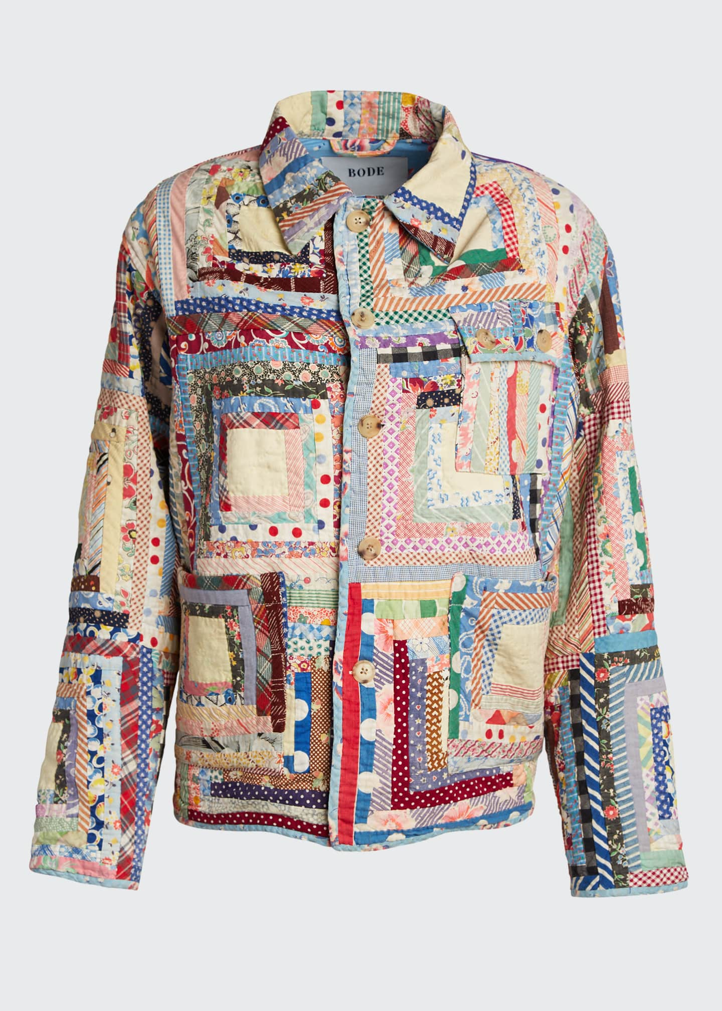 Image 5 of 5: Quilted Patchwork Workwear Jacket