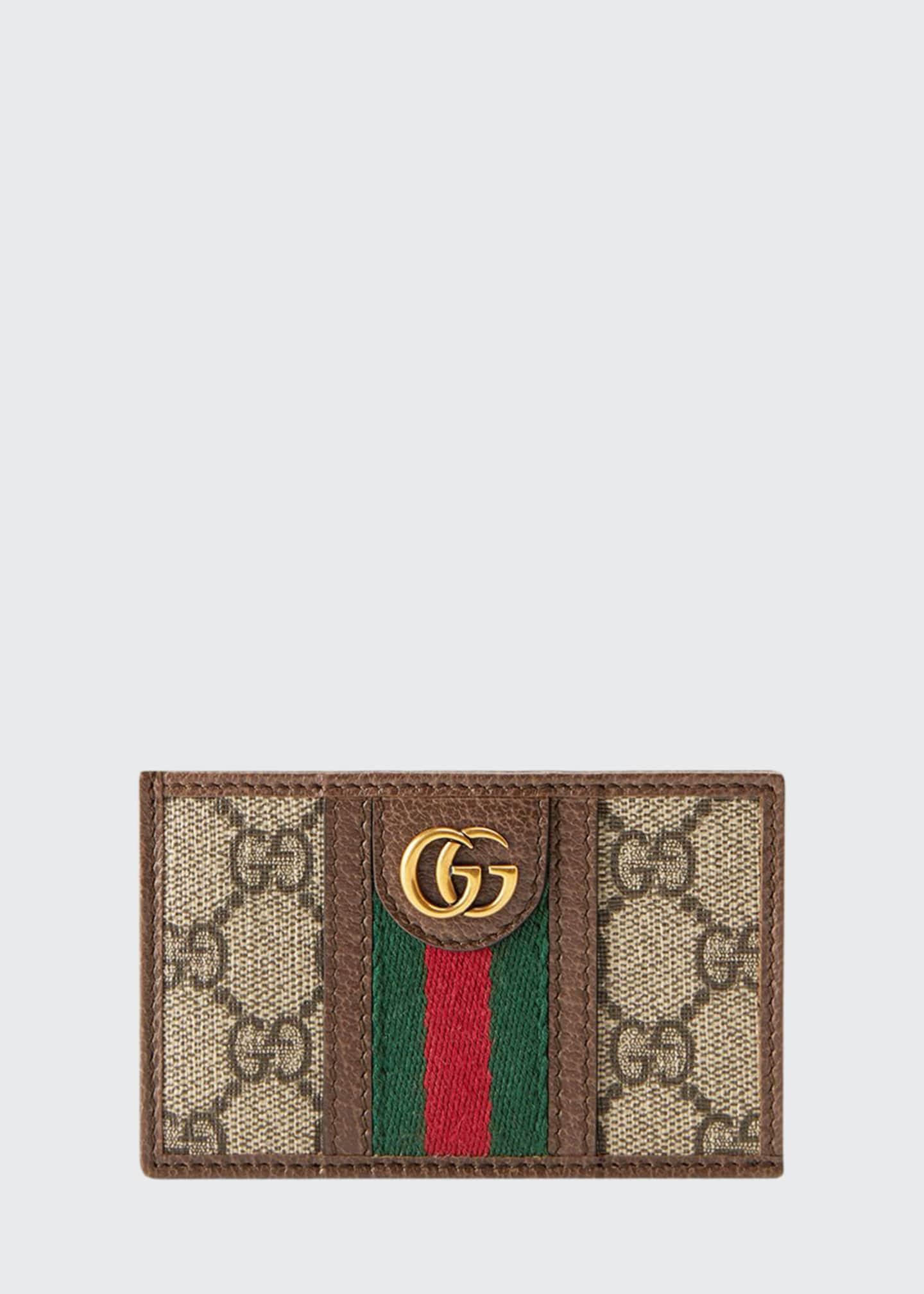 Gucci Men's GG Supreme Canvas Marmont Vertical Wallet