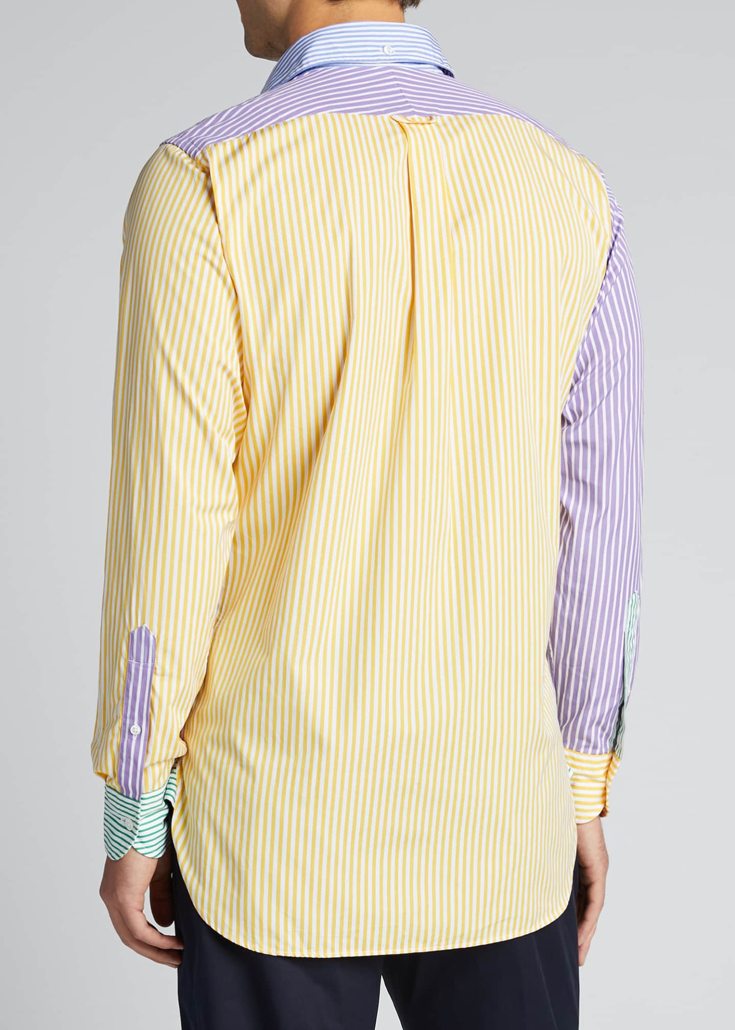 Image 2 of 5: Men's Multicolor Striped Sport Shirt
