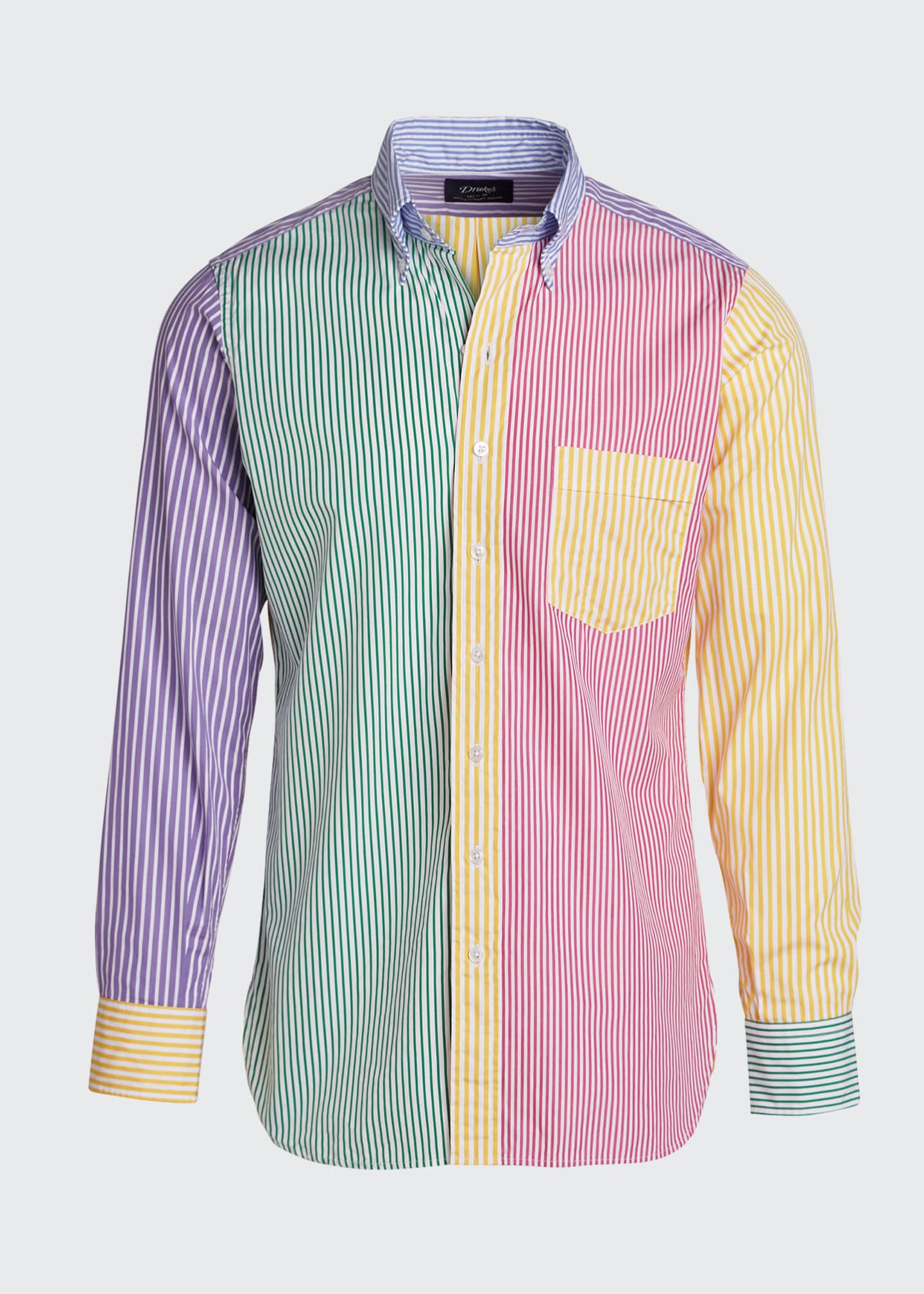 Image 5 of 5: Men's Multicolor Striped Sport Shirt