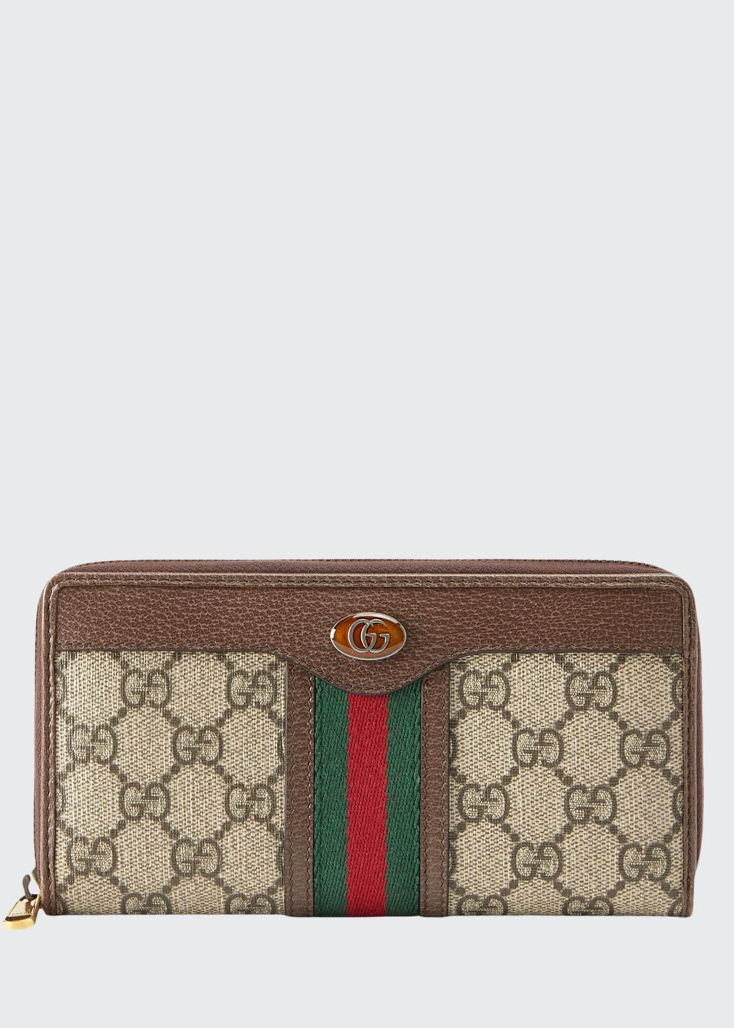 Gucci Men's GG Supreme Zip-Around Wallet