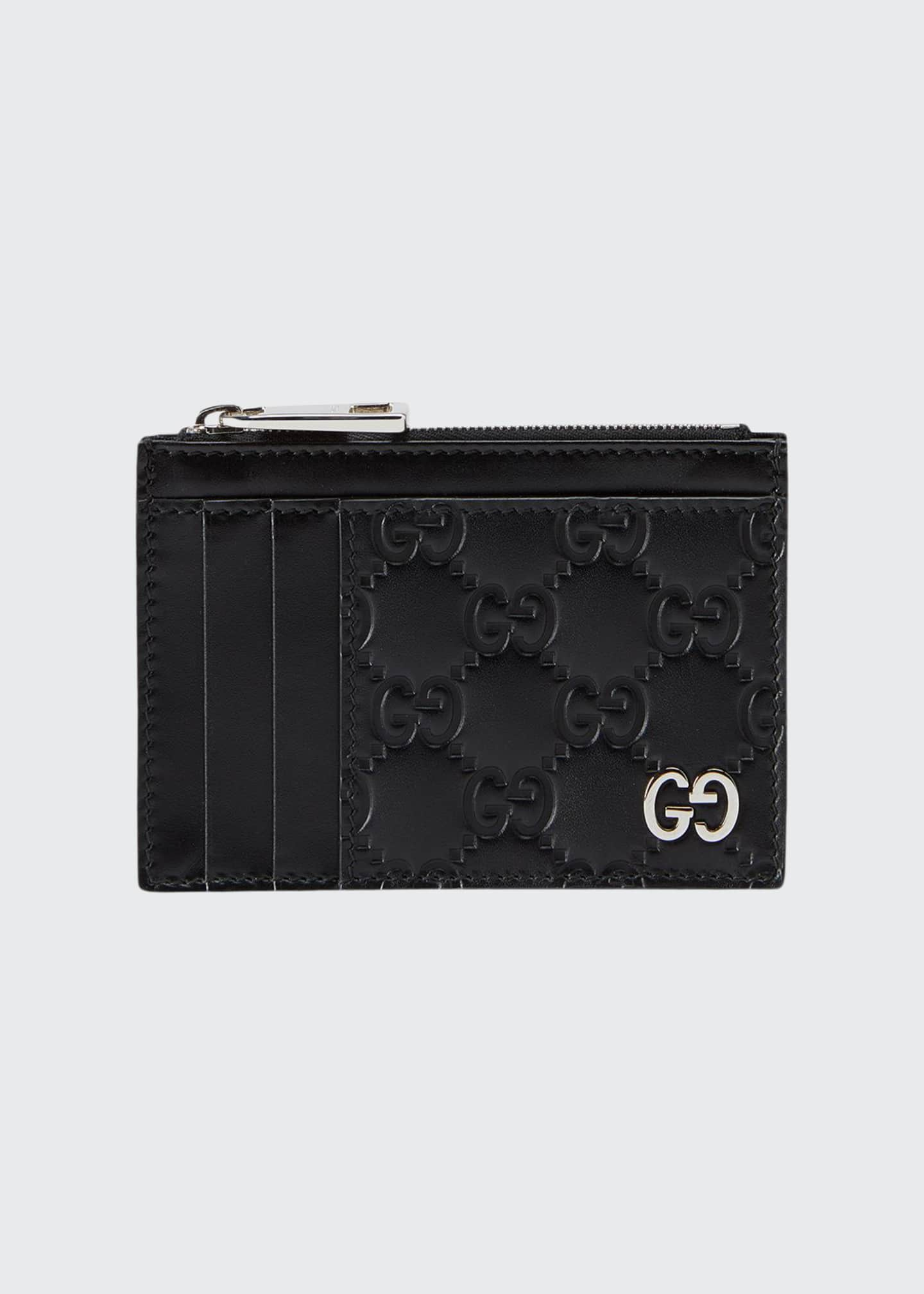 Gucci Men's GG Embossed Zip Card Case
