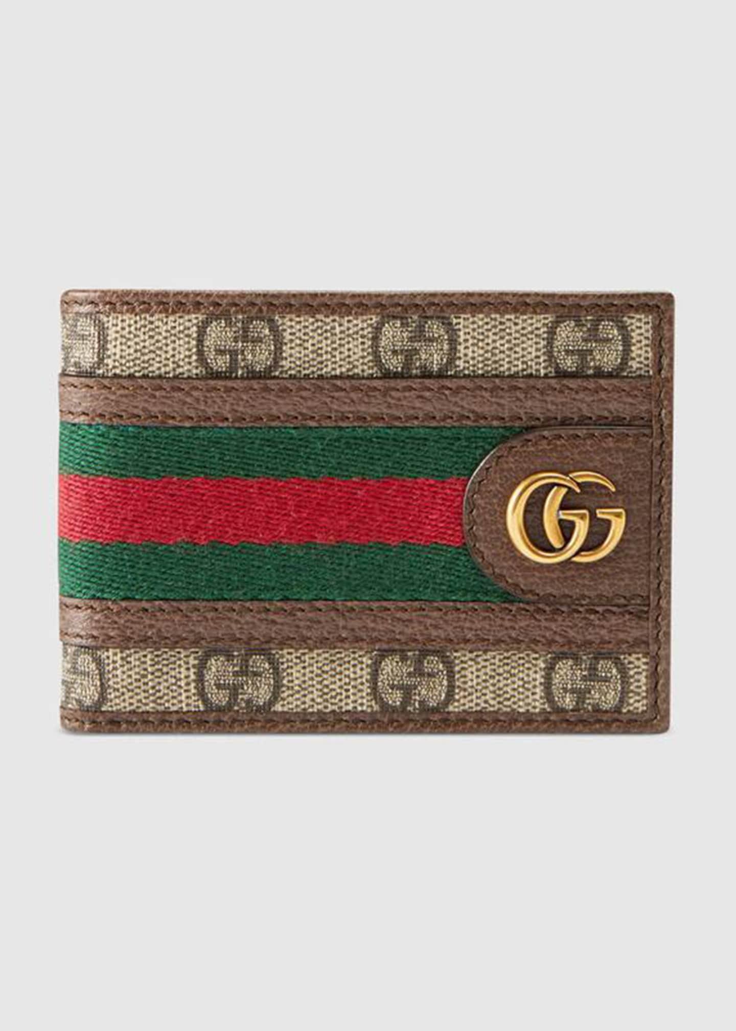 Gucci Men's GG Supreme Marmont Bifold Wallet