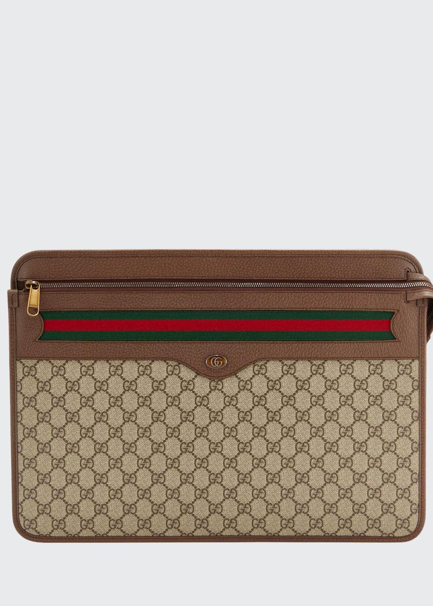 Gucci Men's GG Supreme Document Case