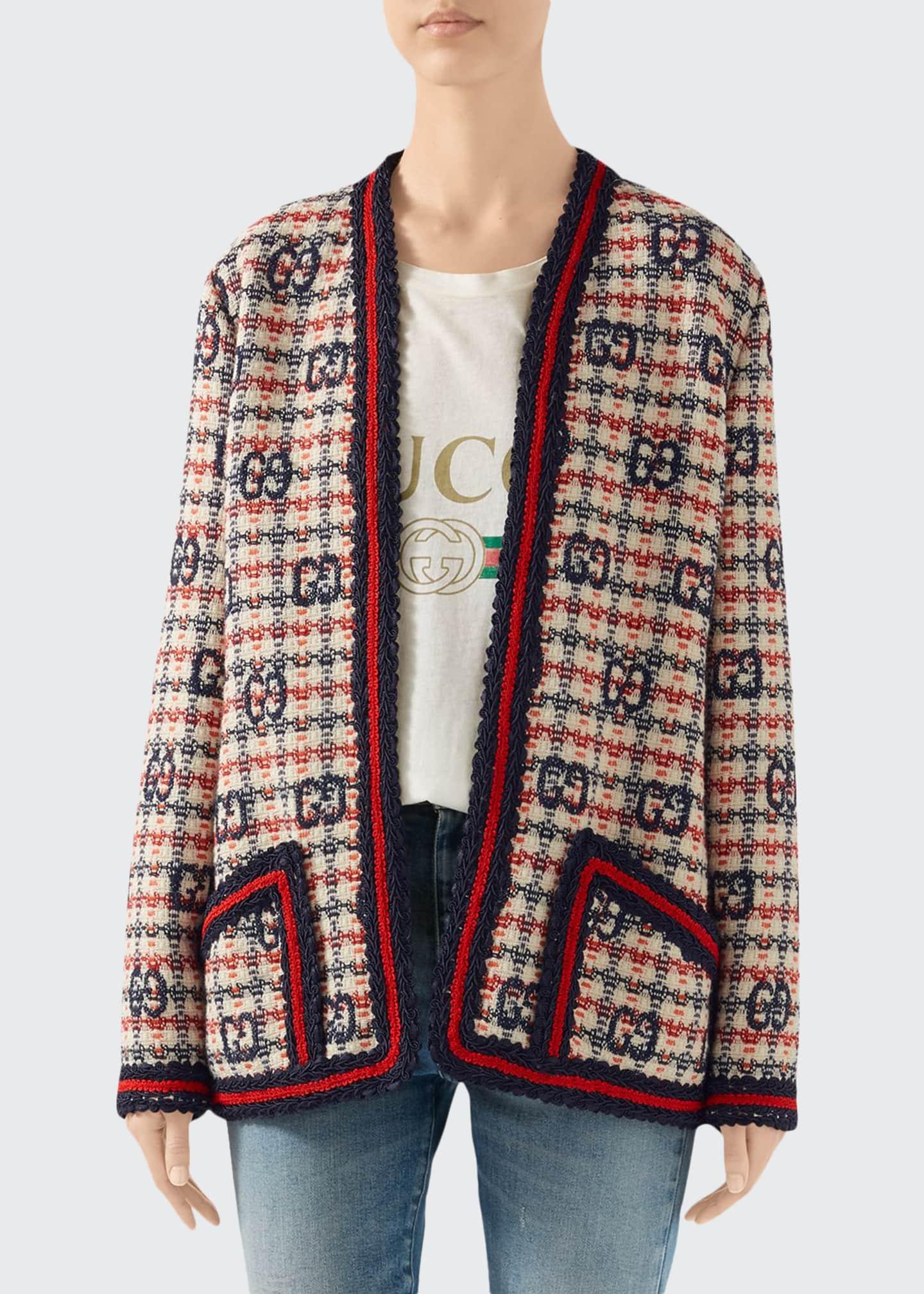 Gucci GG-Check Tweed Jacket