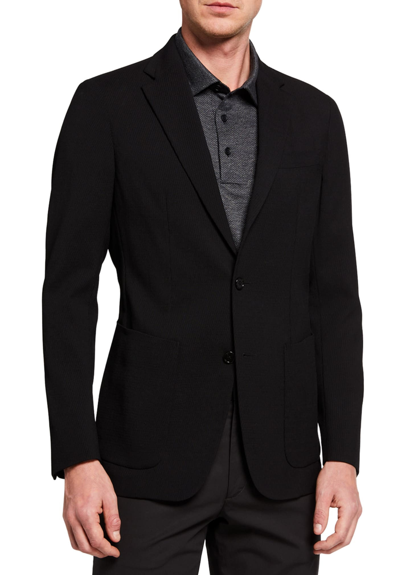 Image 1 of 3: Men's New Chambers Seersucker Two-Button Jacket