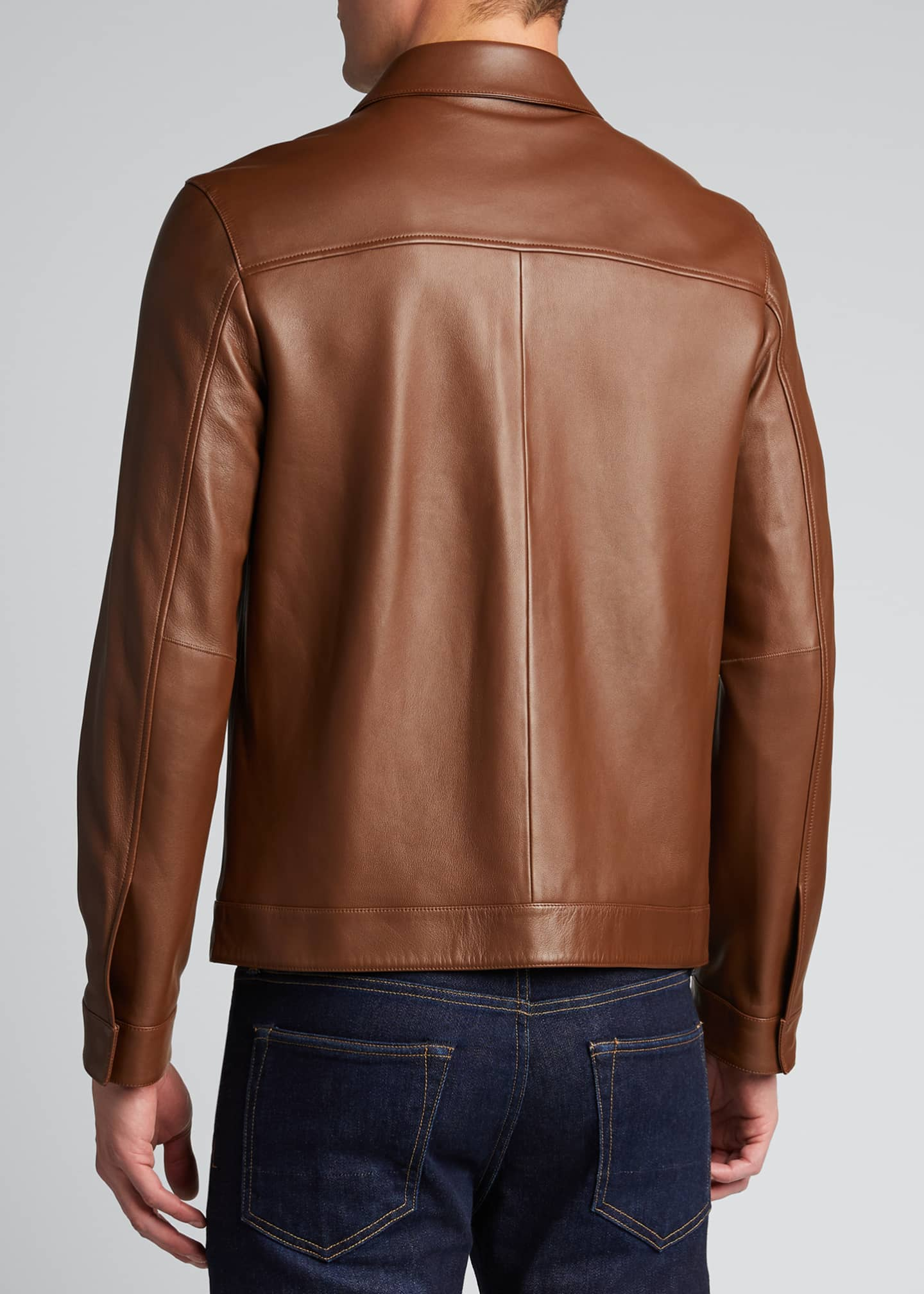 Image 2 of 4: Men's Roscoe Plover Leather Jacket