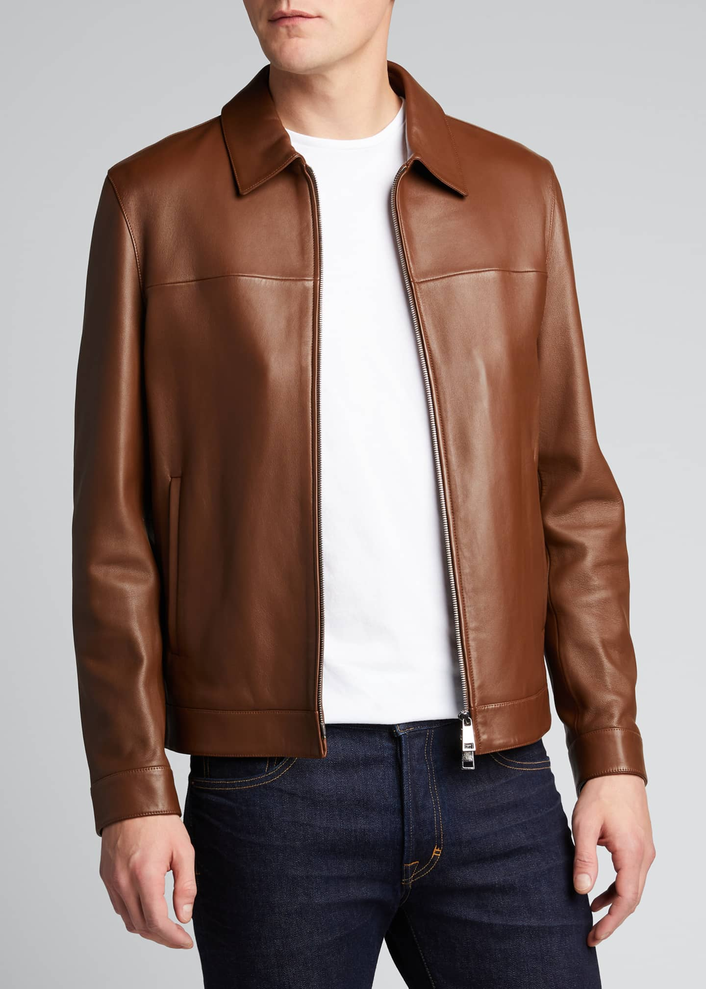 Image 3 of 4: Men's Roscoe Plover Leather Jacket