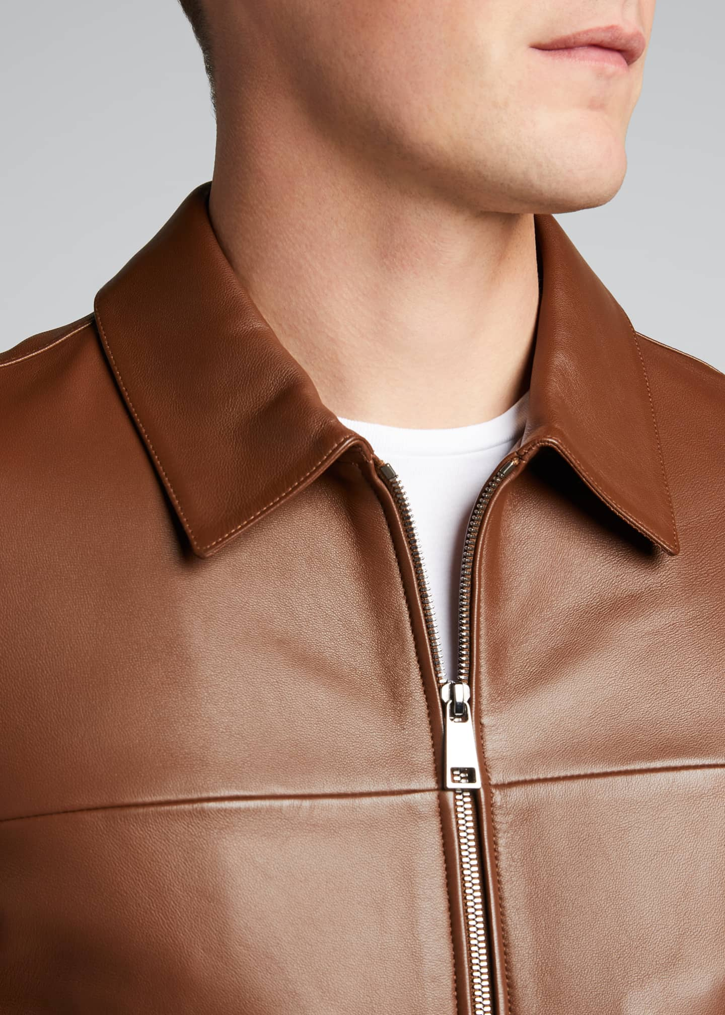 Image 4 of 4: Men's Roscoe Plover Leather Jacket