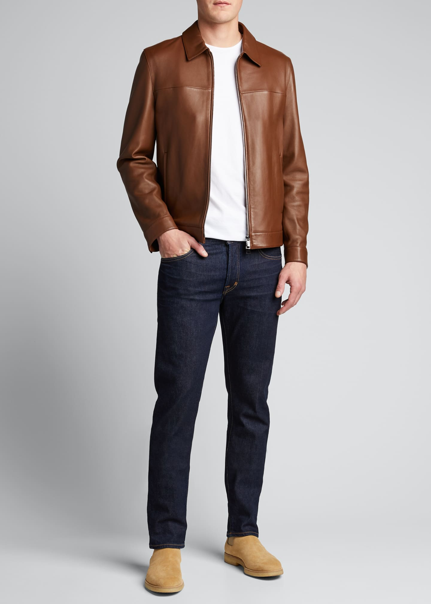 Image 1 of 4: Men's Roscoe Plover Leather Jacket